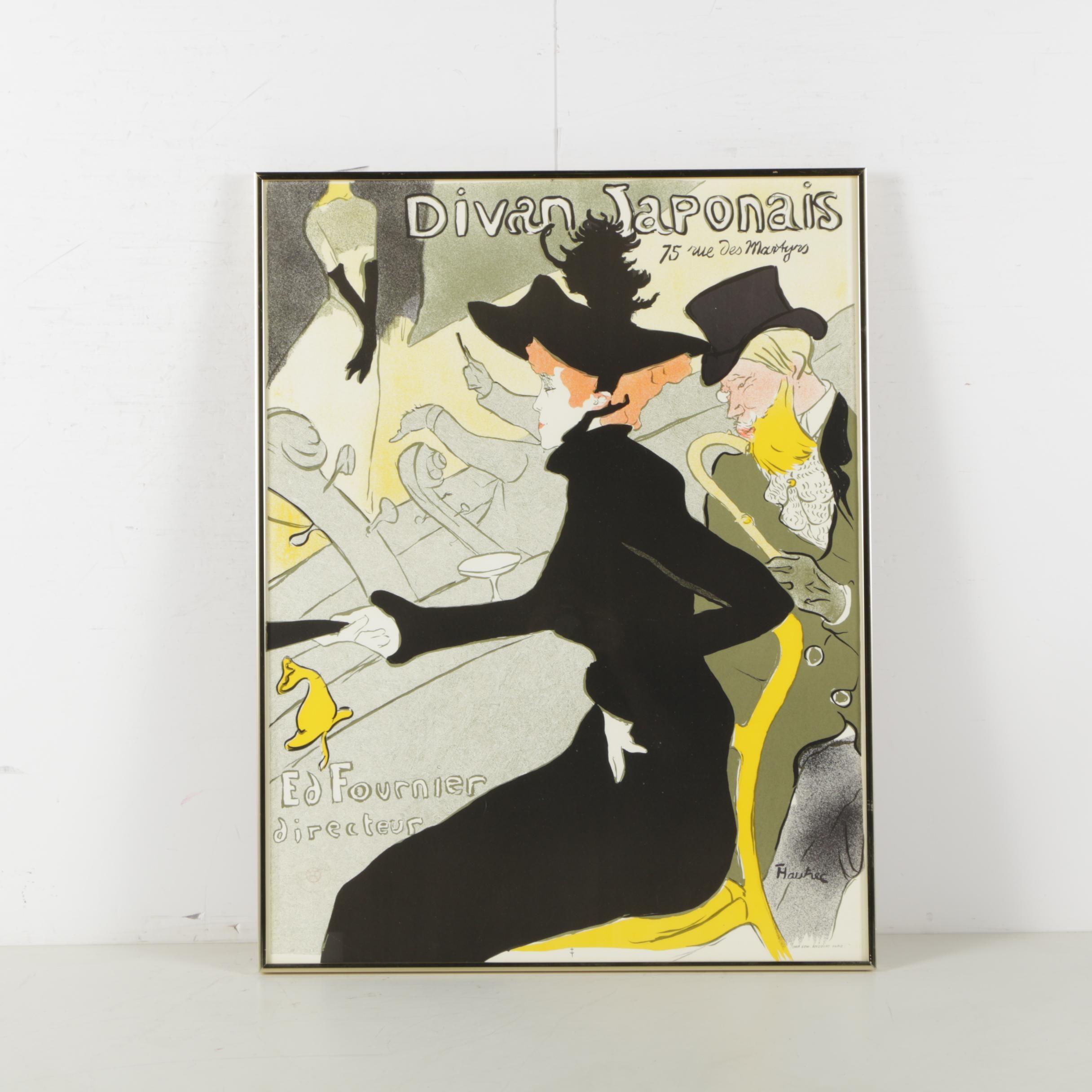 """Lithograph After Henri de Toulouse-Lautrec """"Divan Japonais"""""""