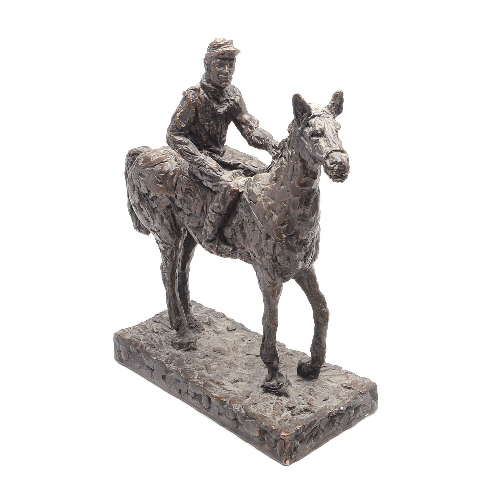 "1968 ""Austin Productions"" Horse and Jockey Racing Sculpture"
