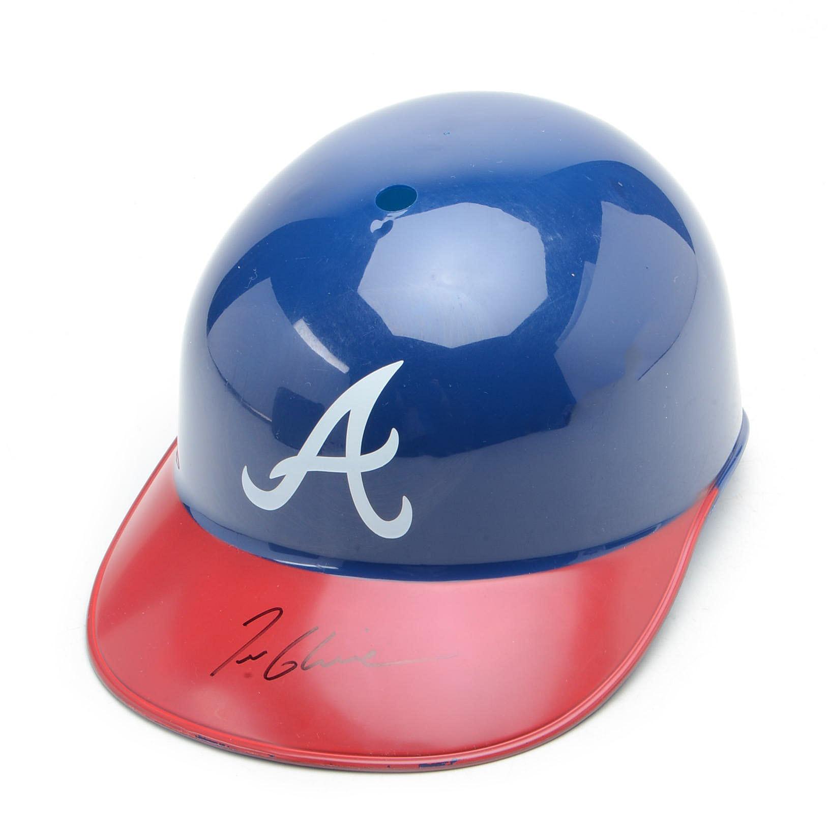 Tom Glavine Autographed Braves Helmet  COA