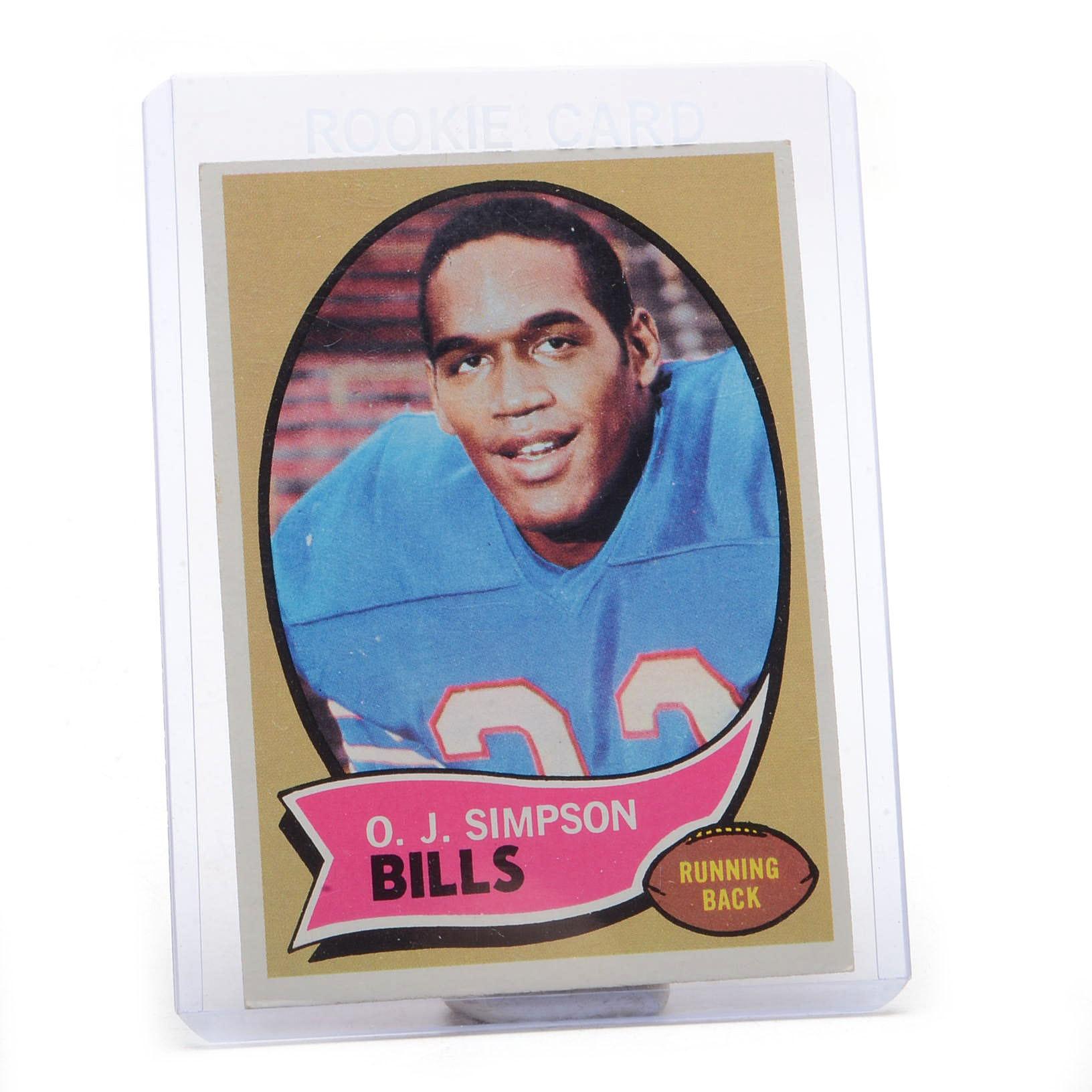 1970 O.J. Simpson Topps Rookie Football Card