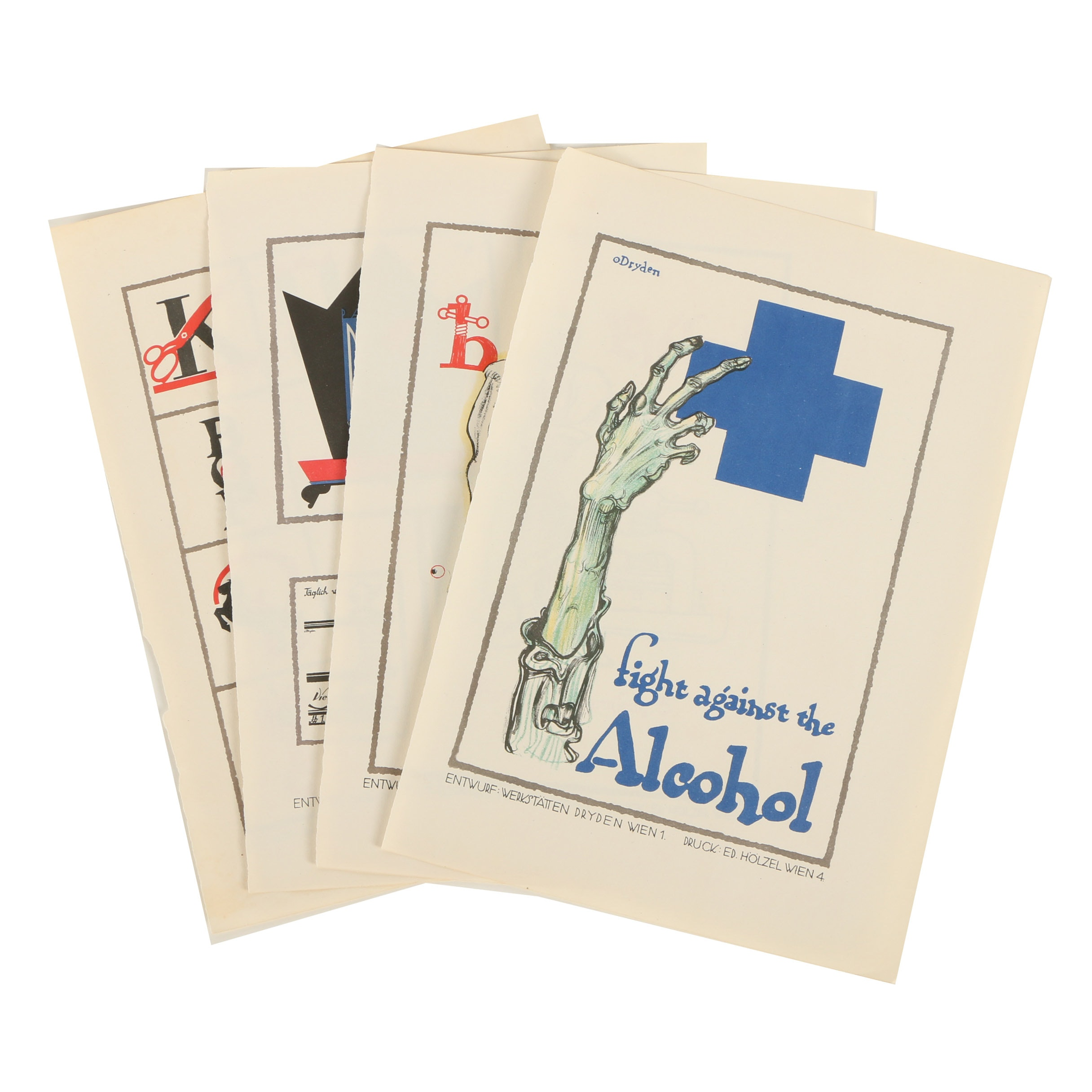 Lithographs of German Advertising