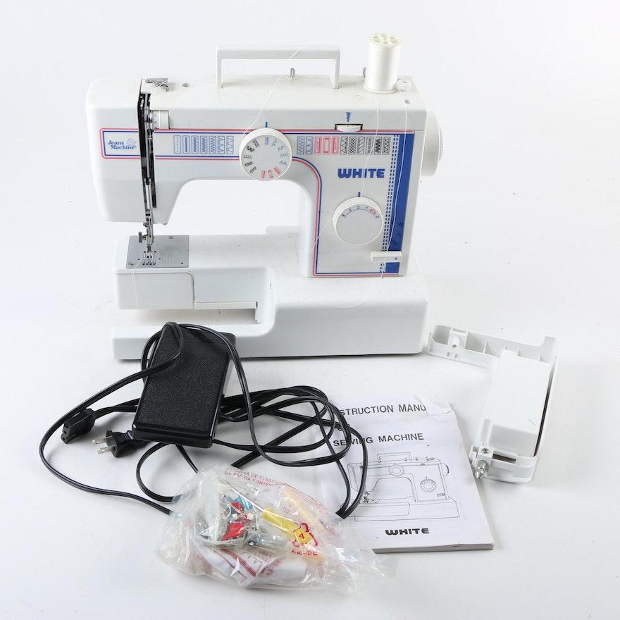 Jeans Machine 40 Sewing Machine EBTH Extraordinary Jeans Machine White Sewing Machine