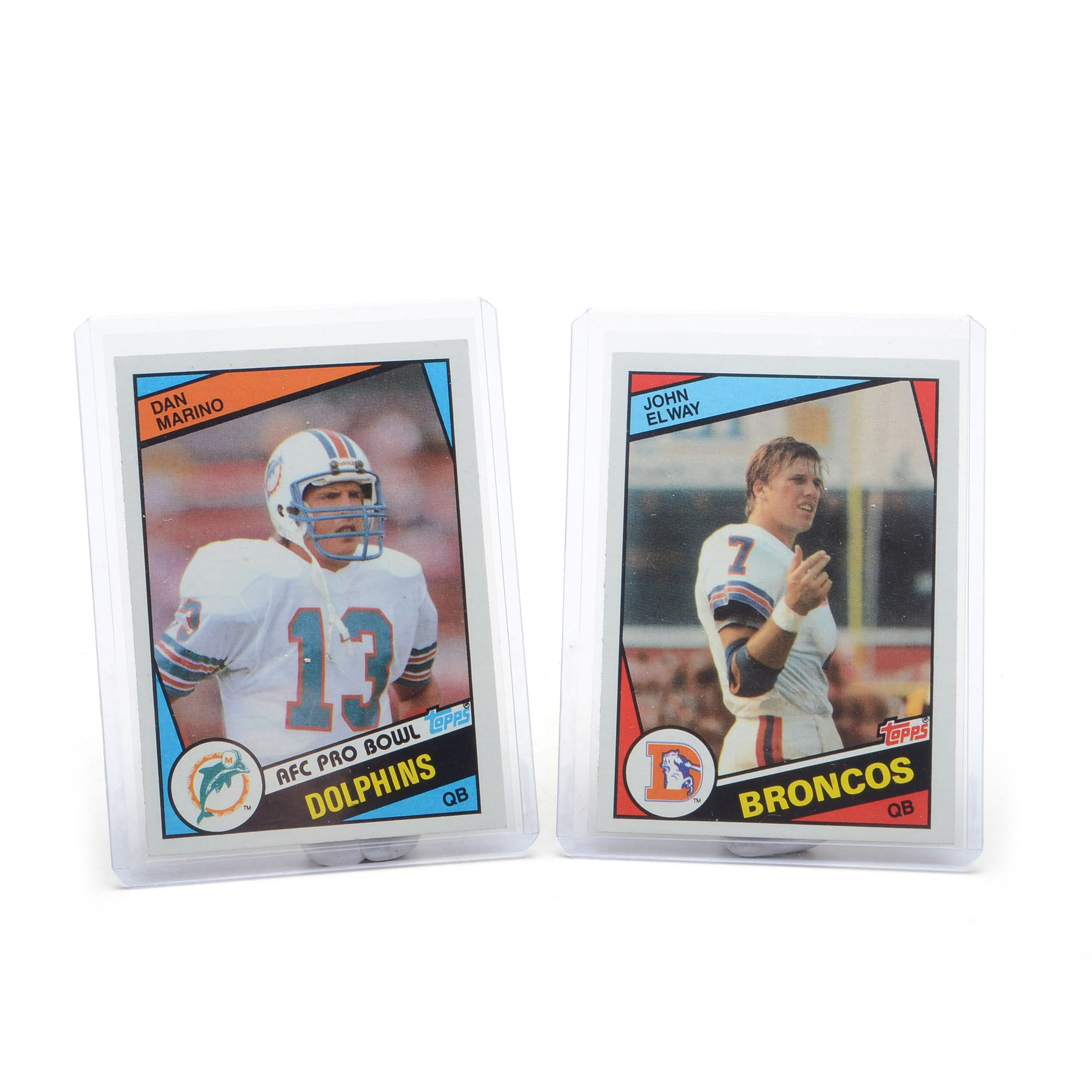 1984 Elway and Marino Topps Rookie Football Cards