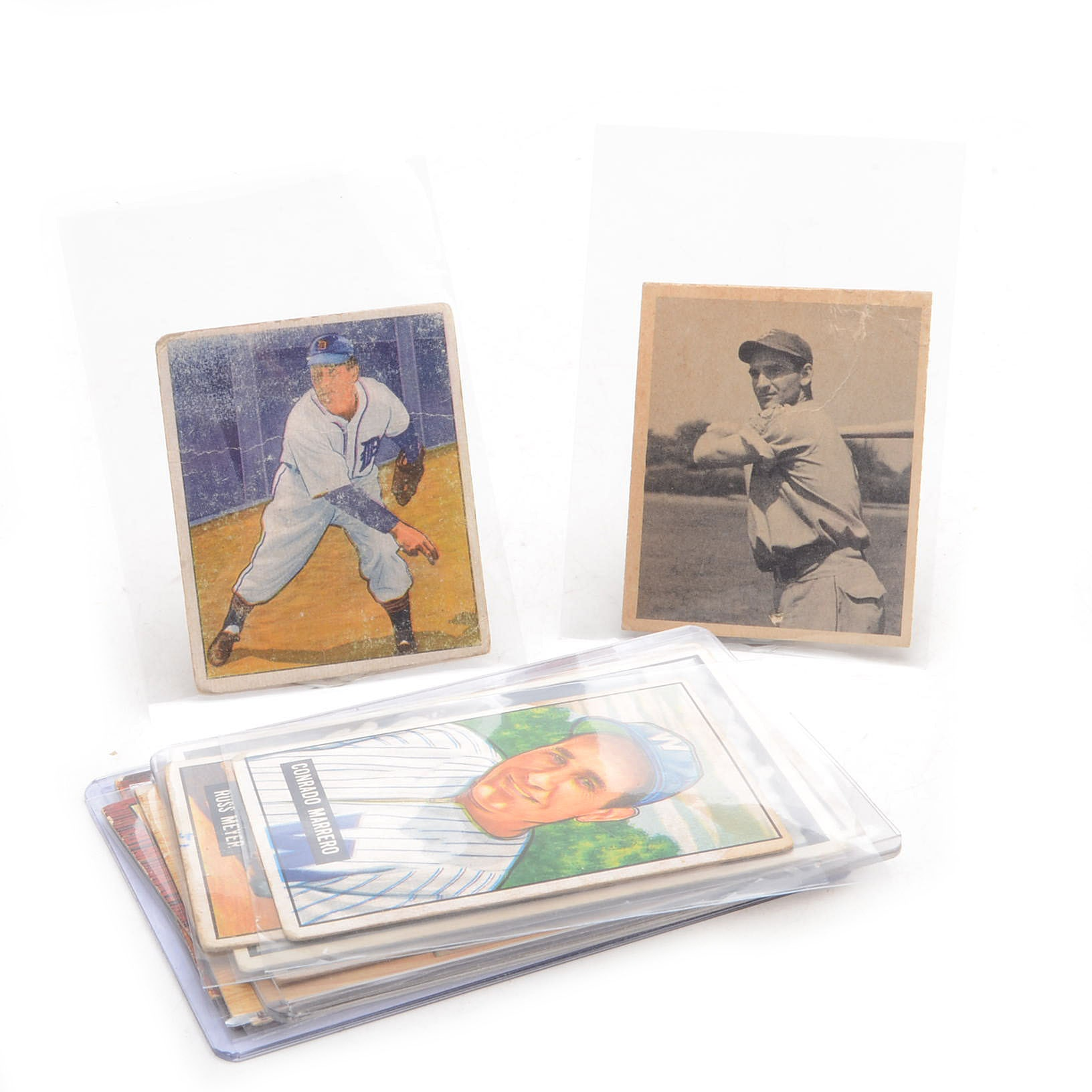 Eleven 1940s and 1950s Bowman Baseball Cards With Hall Of Fame Players