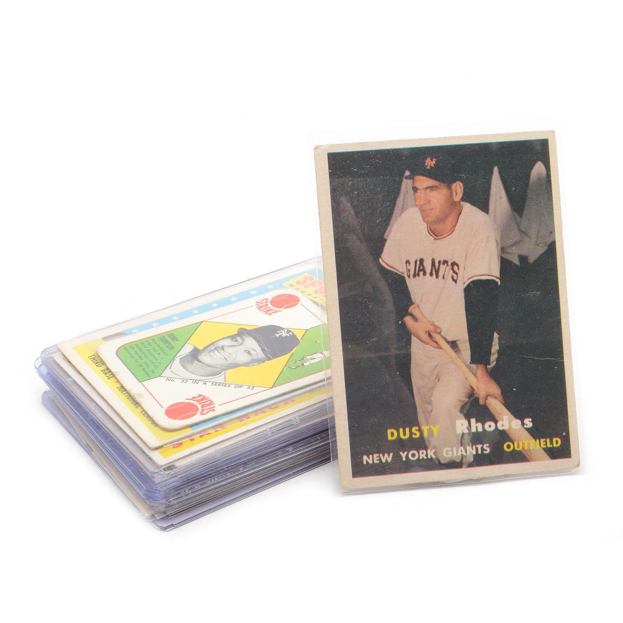 Eighteen 1950s Topps Baseball Cards With Hall Of Fame Players