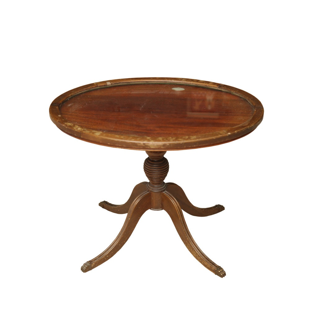 Vintage Mahogany Accent Table by Elite Tables