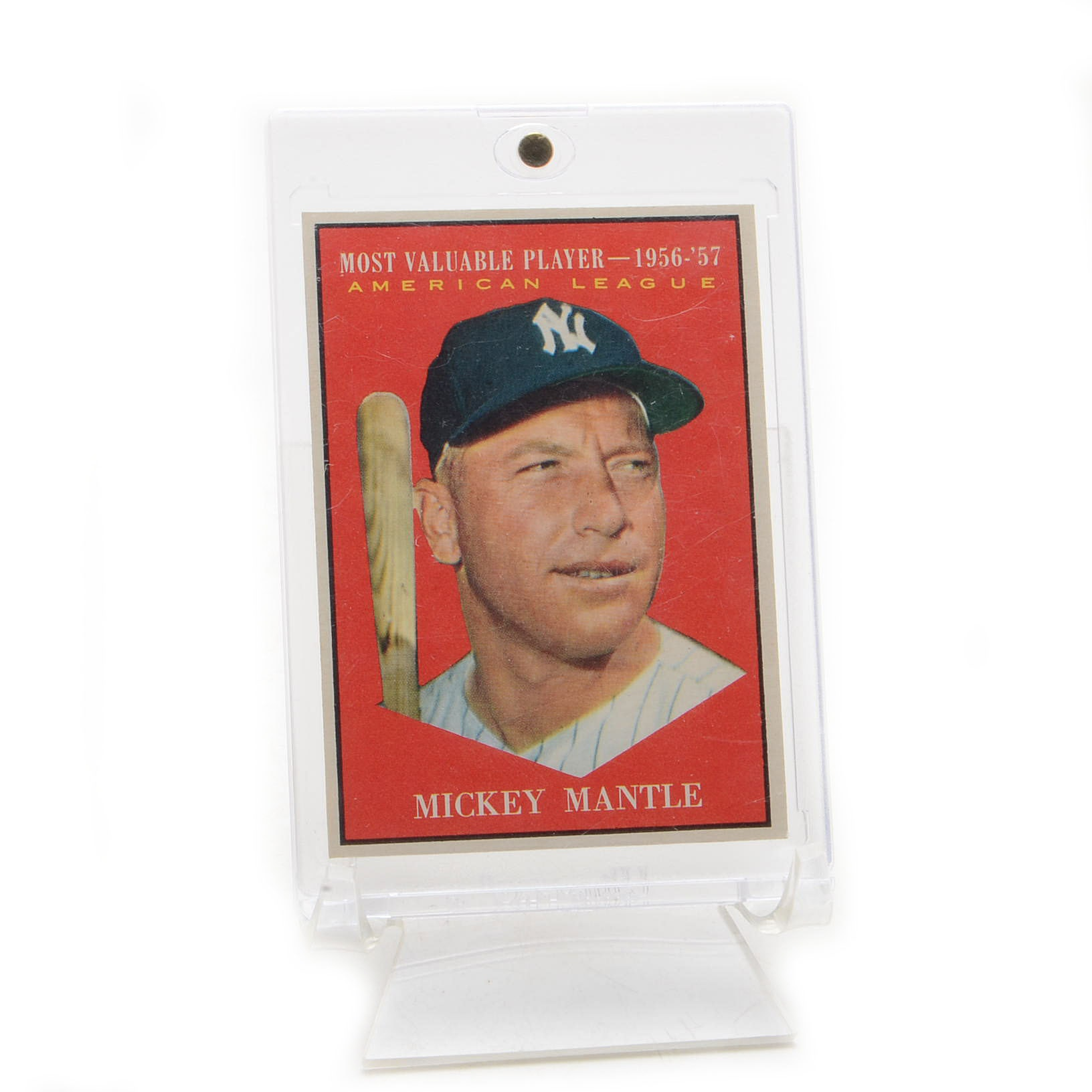 "1961 Mickey Mantle New York Yankees Topps ""MVP"" Baseball Card"
