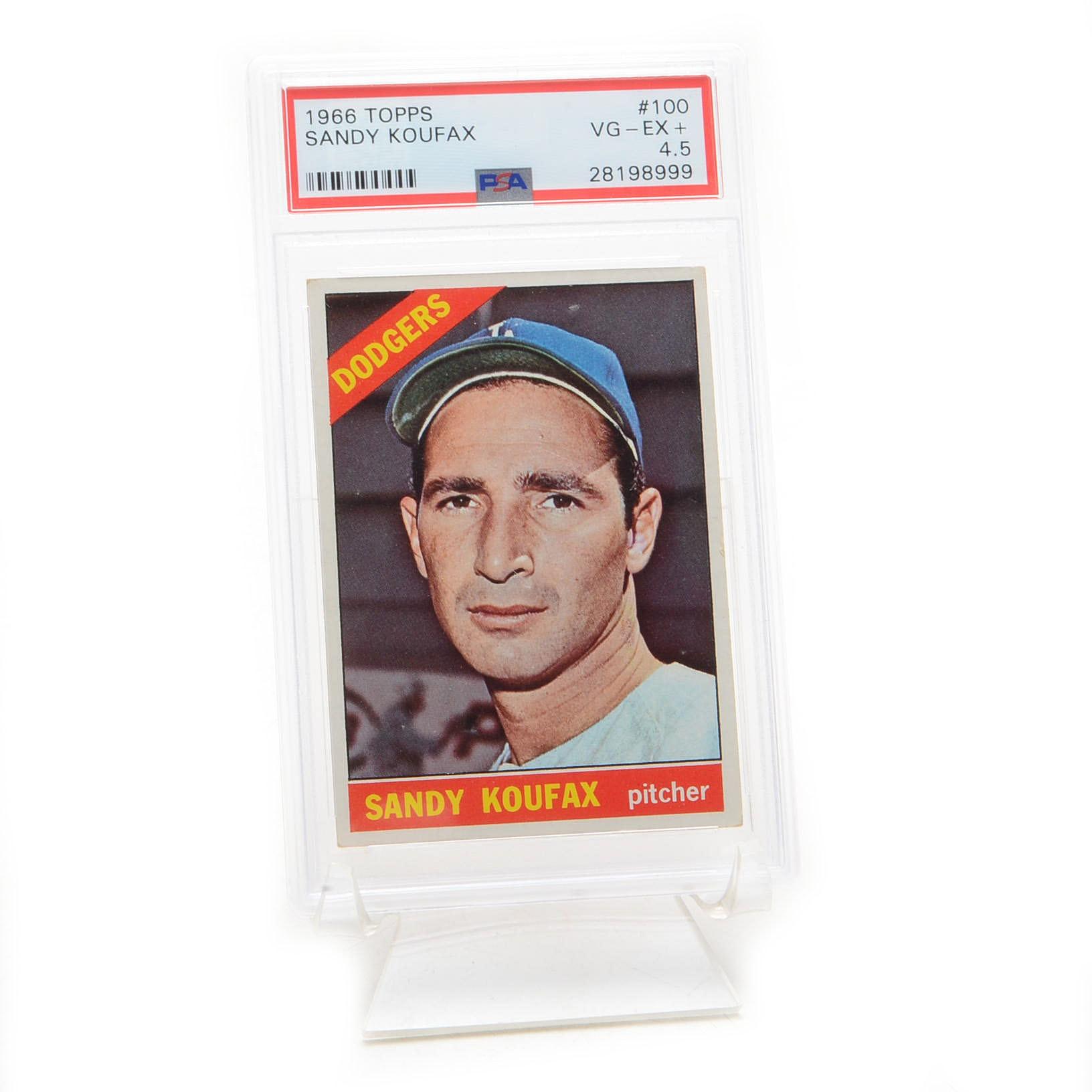 1966 Sandy Koufax Dodgers Topps PSA Graded Baseball Card