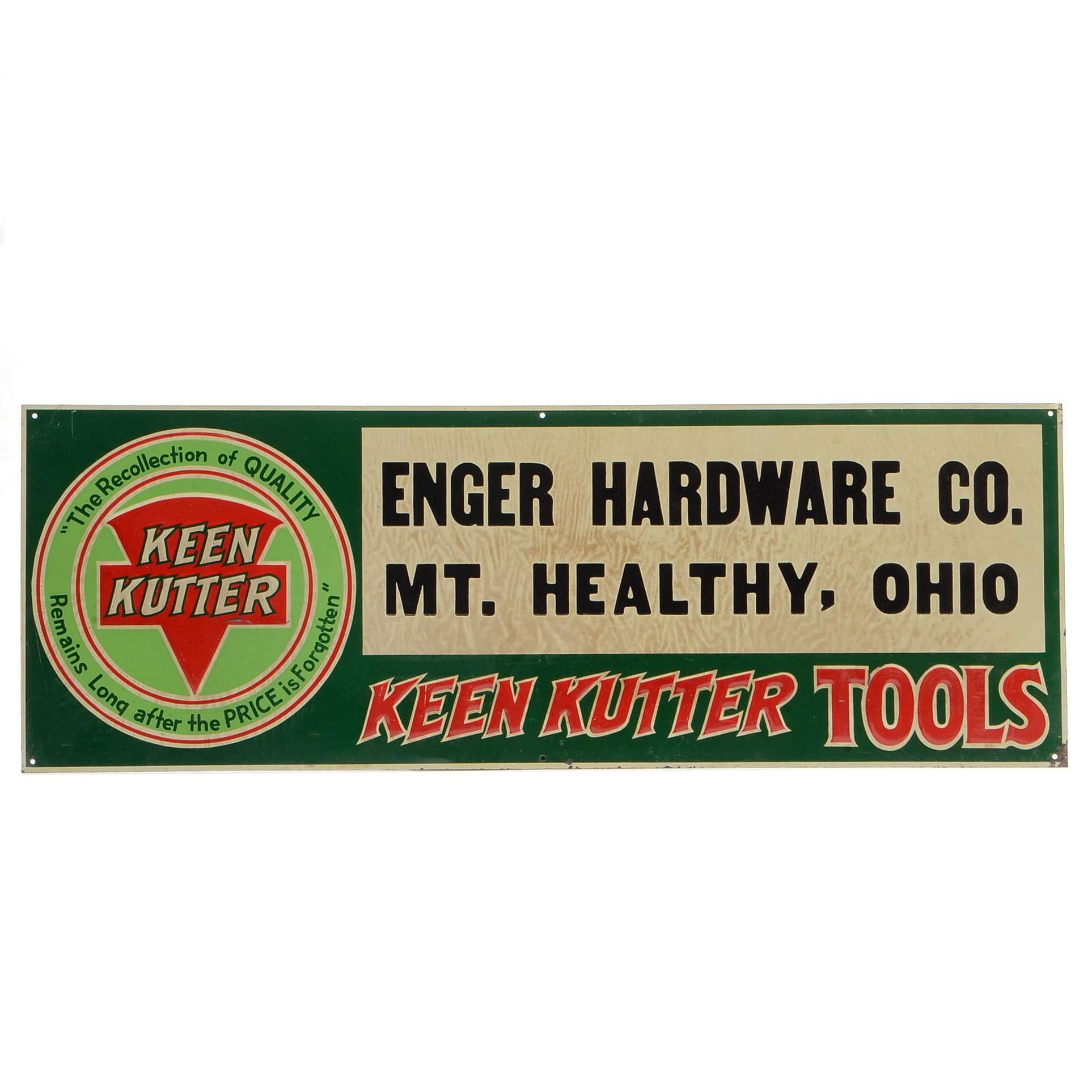 Keen Kutter Mt. Healthy Hardware Sign