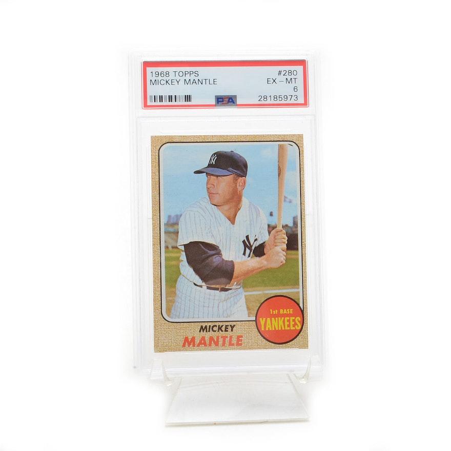 1968 Mickey Mantle Topps Psa Graded Baseball Card