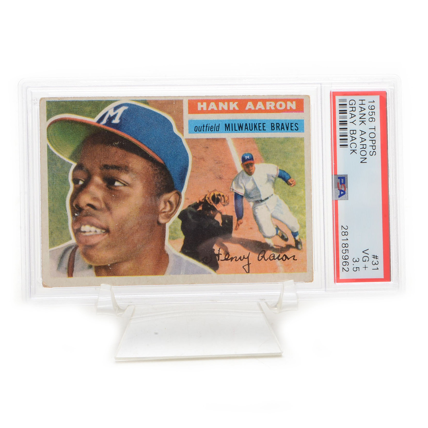 1956 Hank Aaron Topps PSA Graded Baseball Card