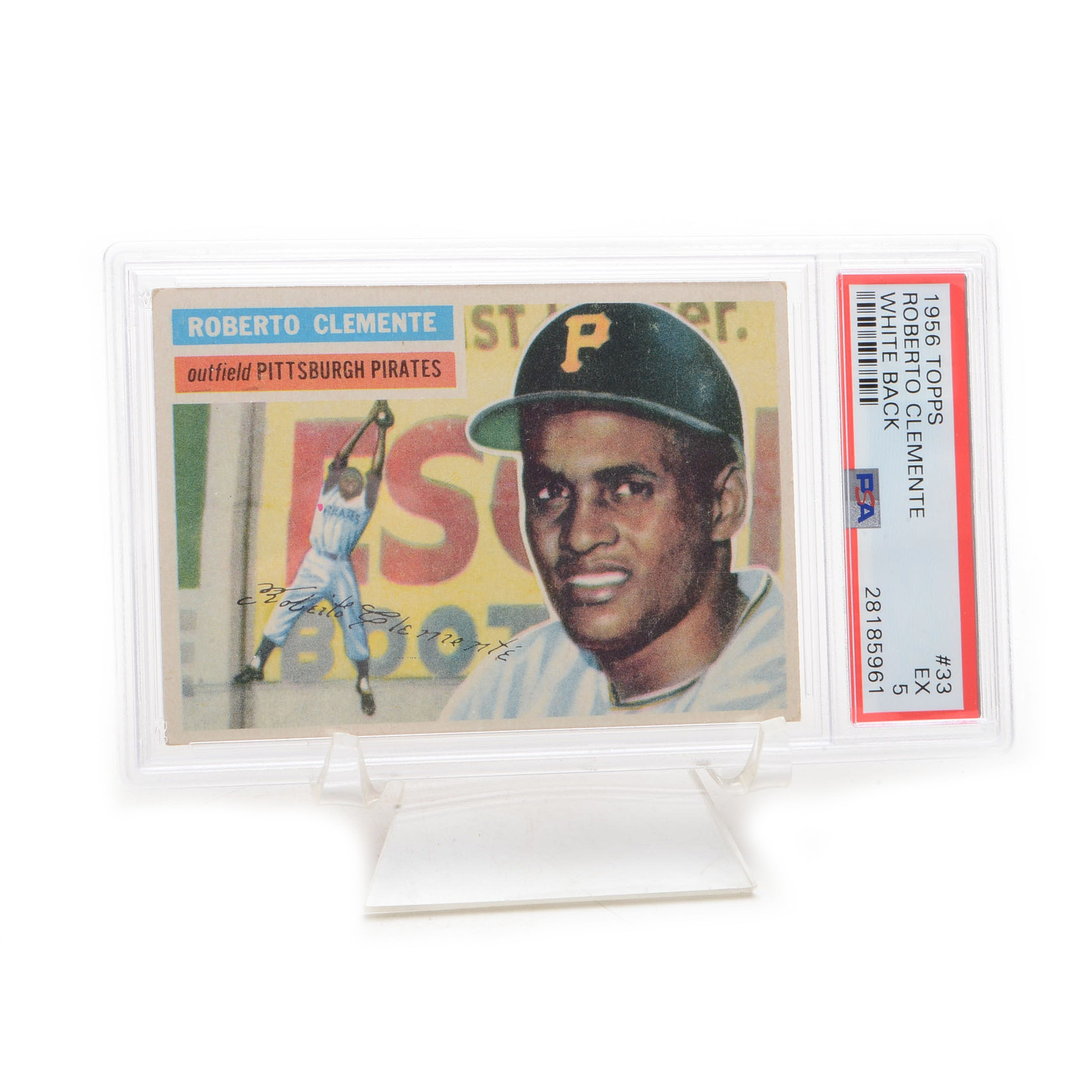 1956 Roberto Clemente Pittsburgh Pirates Topps PSA Graded Card