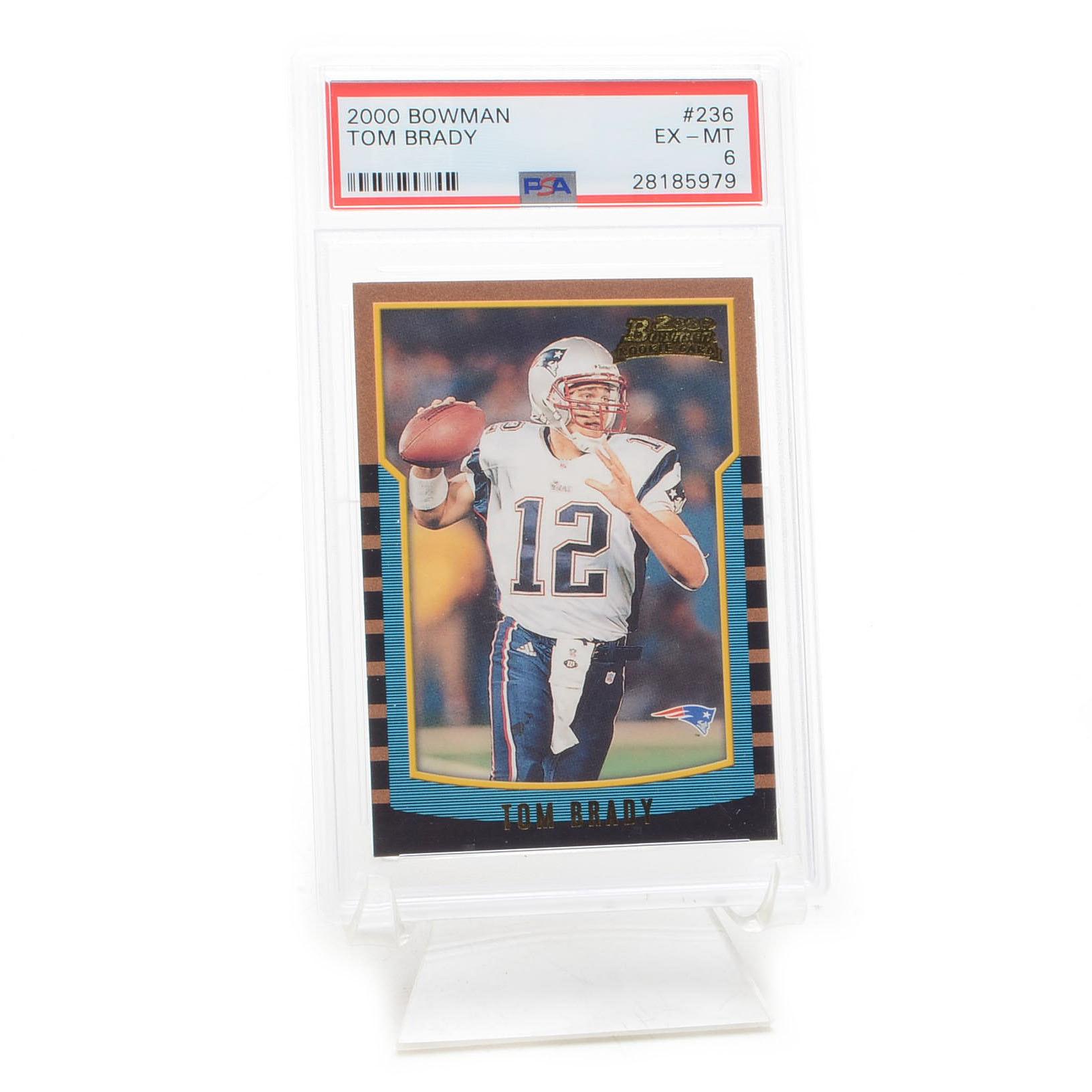 2000 Tom Brady Bowman PSA Graded Rookie Football Card