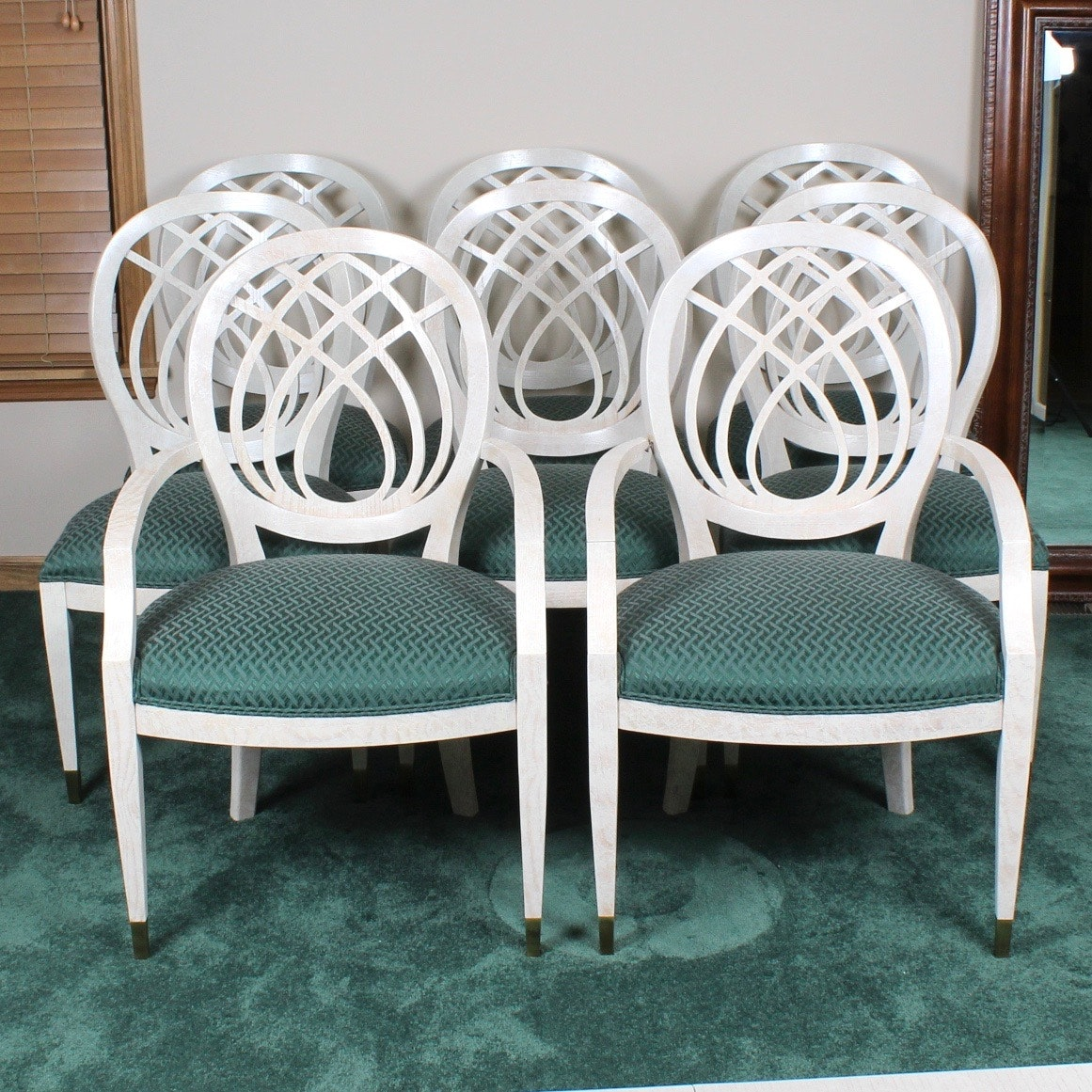 Contemporary Balloon Back Dining Chairs From Henredon Furniture ...