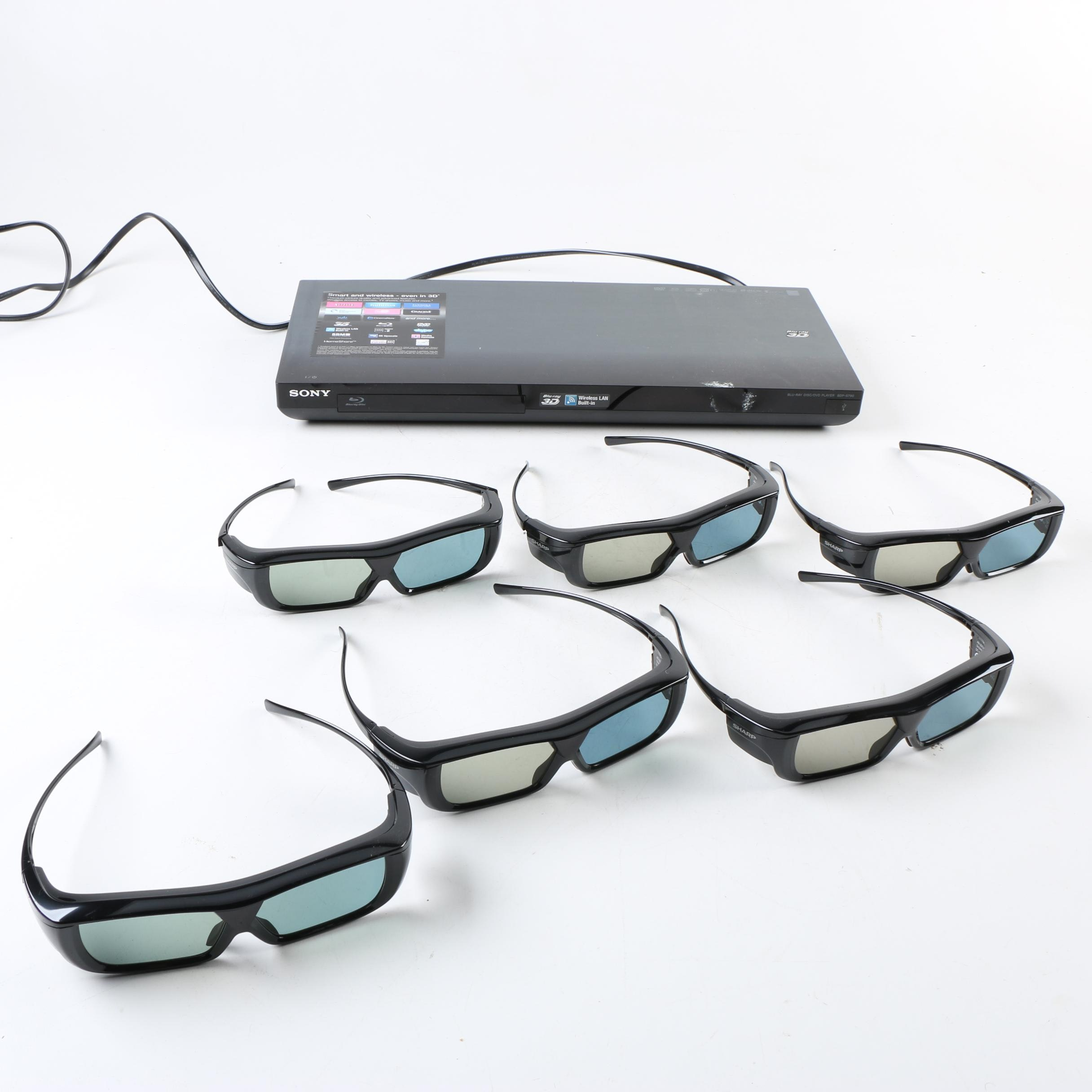 Sony Blu-Ray 3-D System with 3-D Glasses