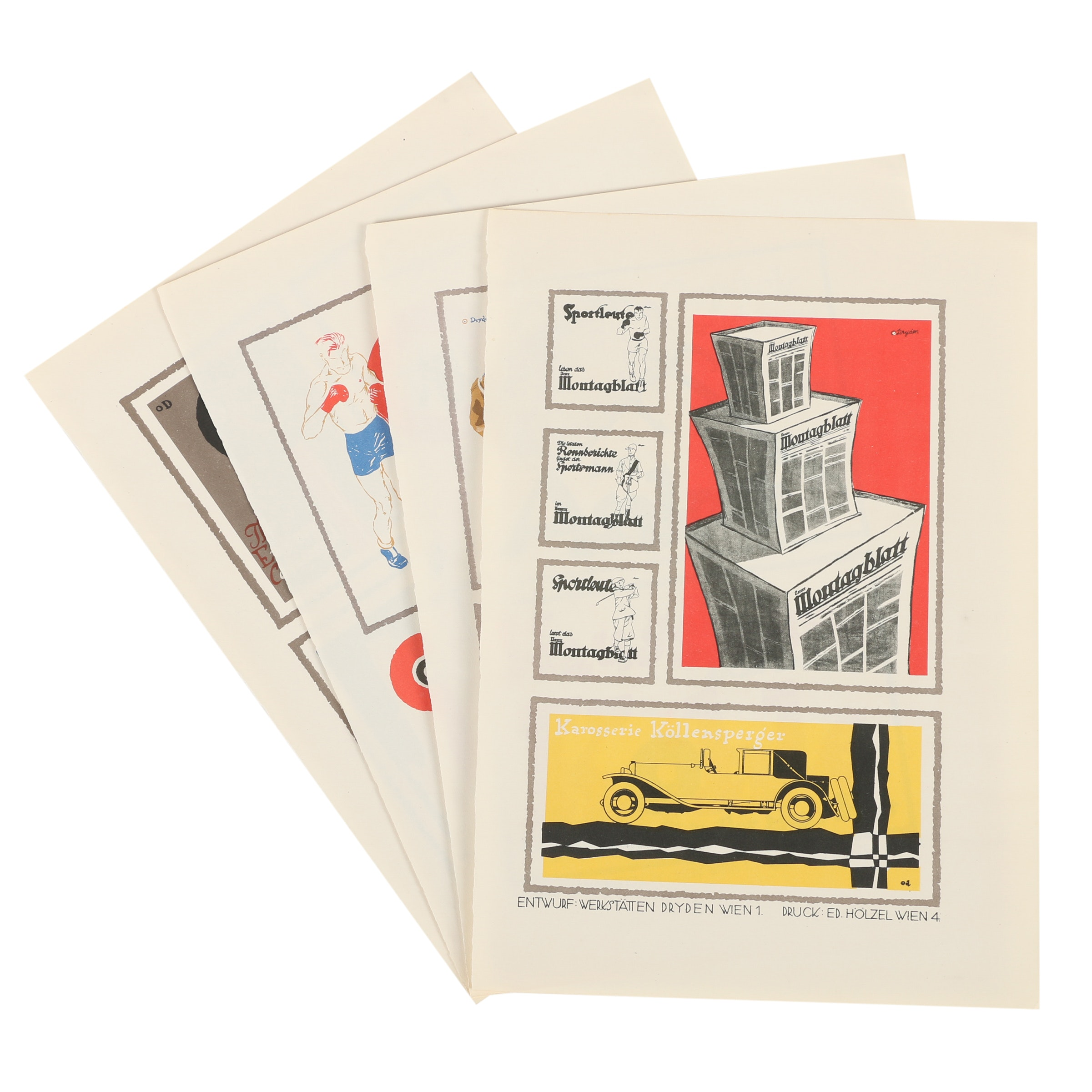 Lithographs of German Advertisements