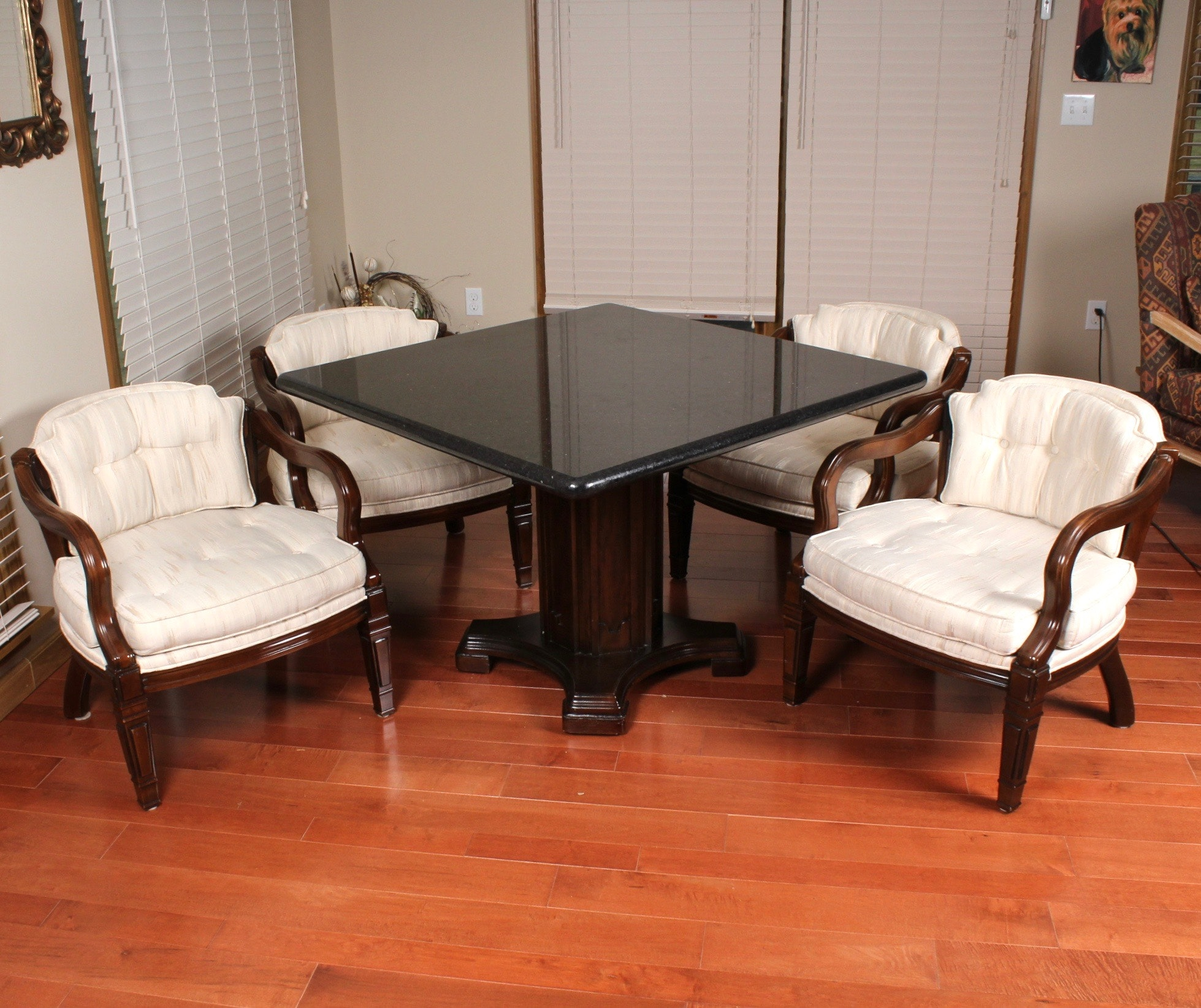 Granite Top Dining Table and Chairs