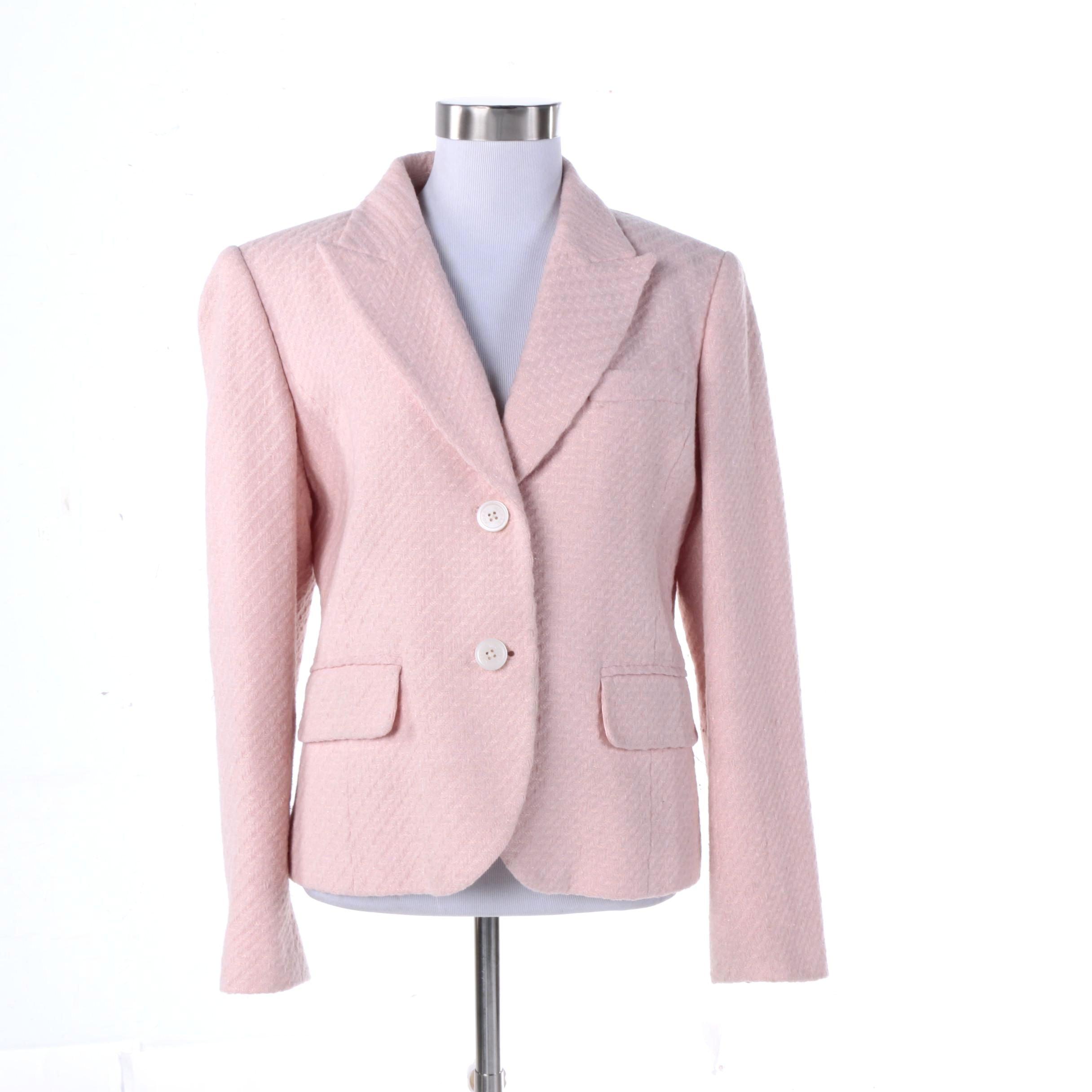 MICHAEL Michael Kors Pink Wool Blend Blazer