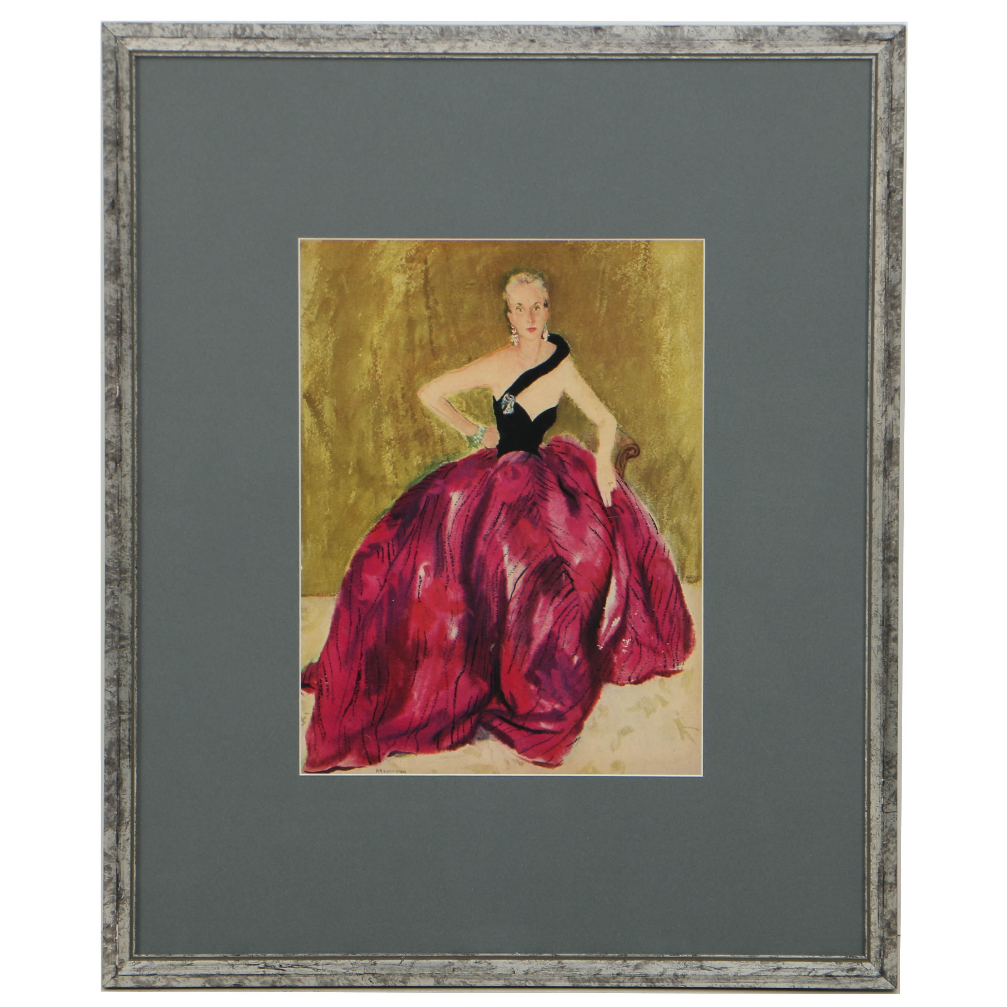"Offset Lithograph on Paper After Silvia Braverman's ""Mrs. Hutton Portrait"""