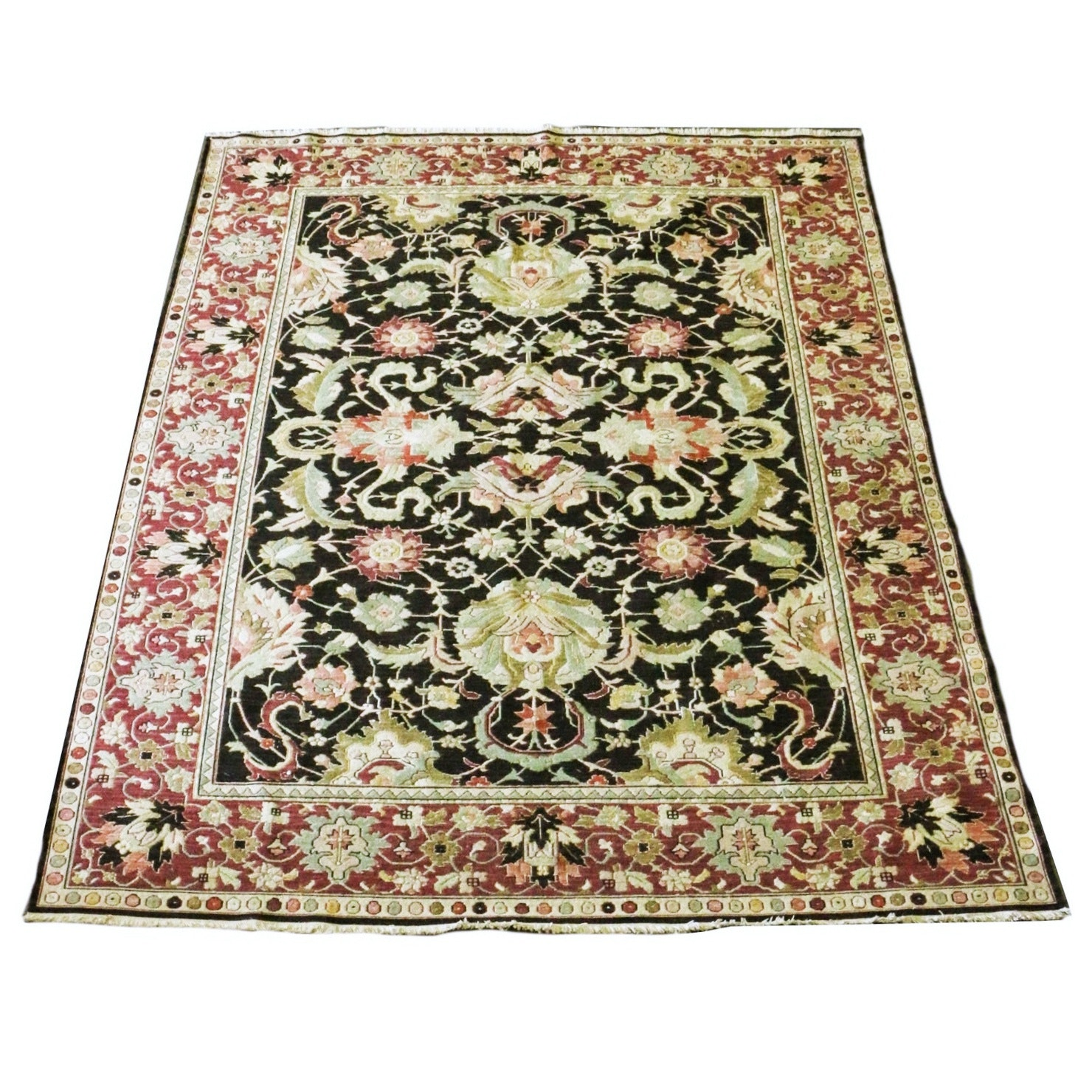 Hand Woven All Wool Persian Style Rug, Made in India