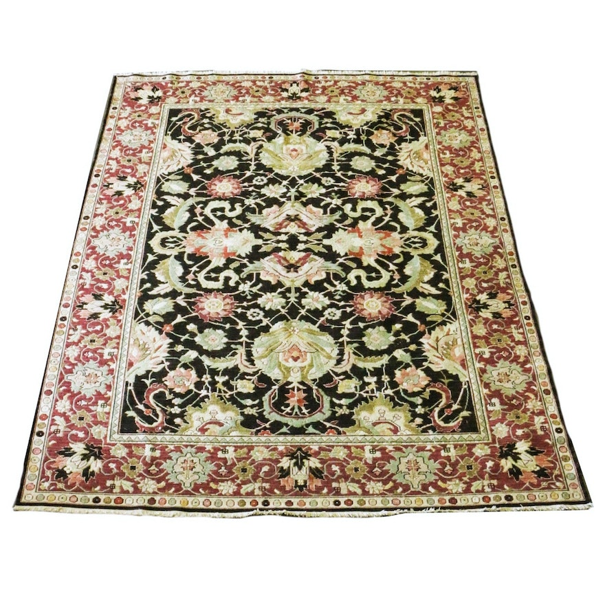 Hand Woven All Wool Persian Style Rug Made In India