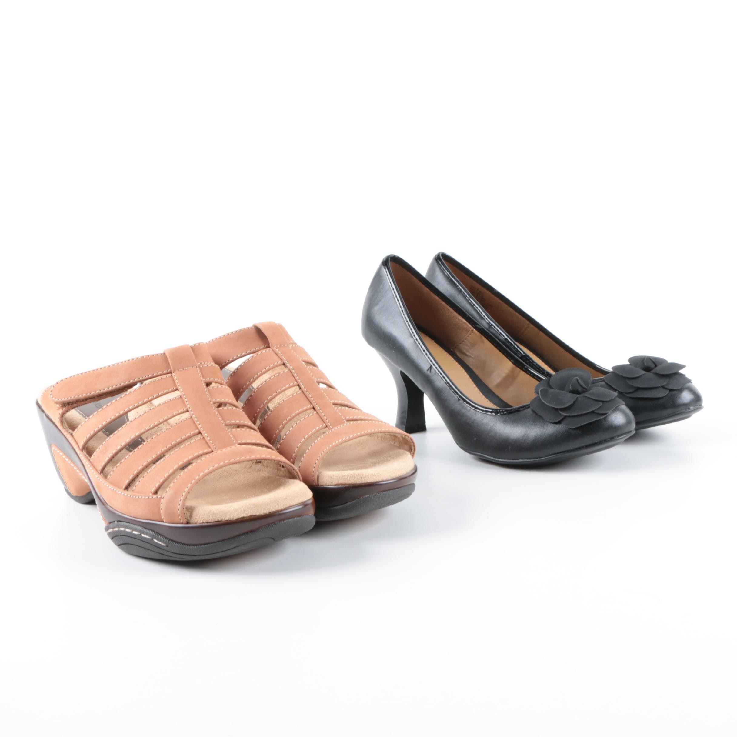 Croft & Barrow Black Pumps and White Mountain Brown Wedges