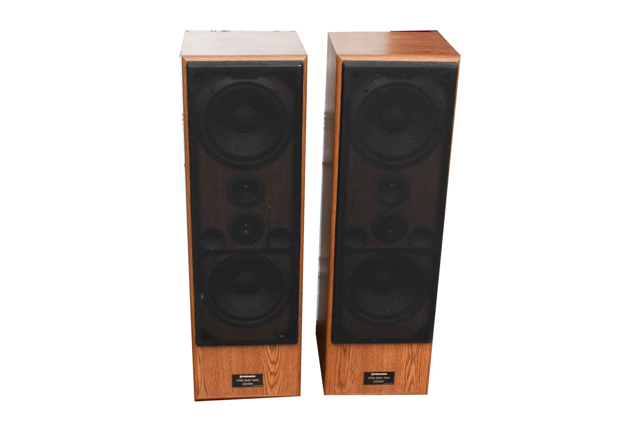 Pair of Pioneer and Fisher Speakers