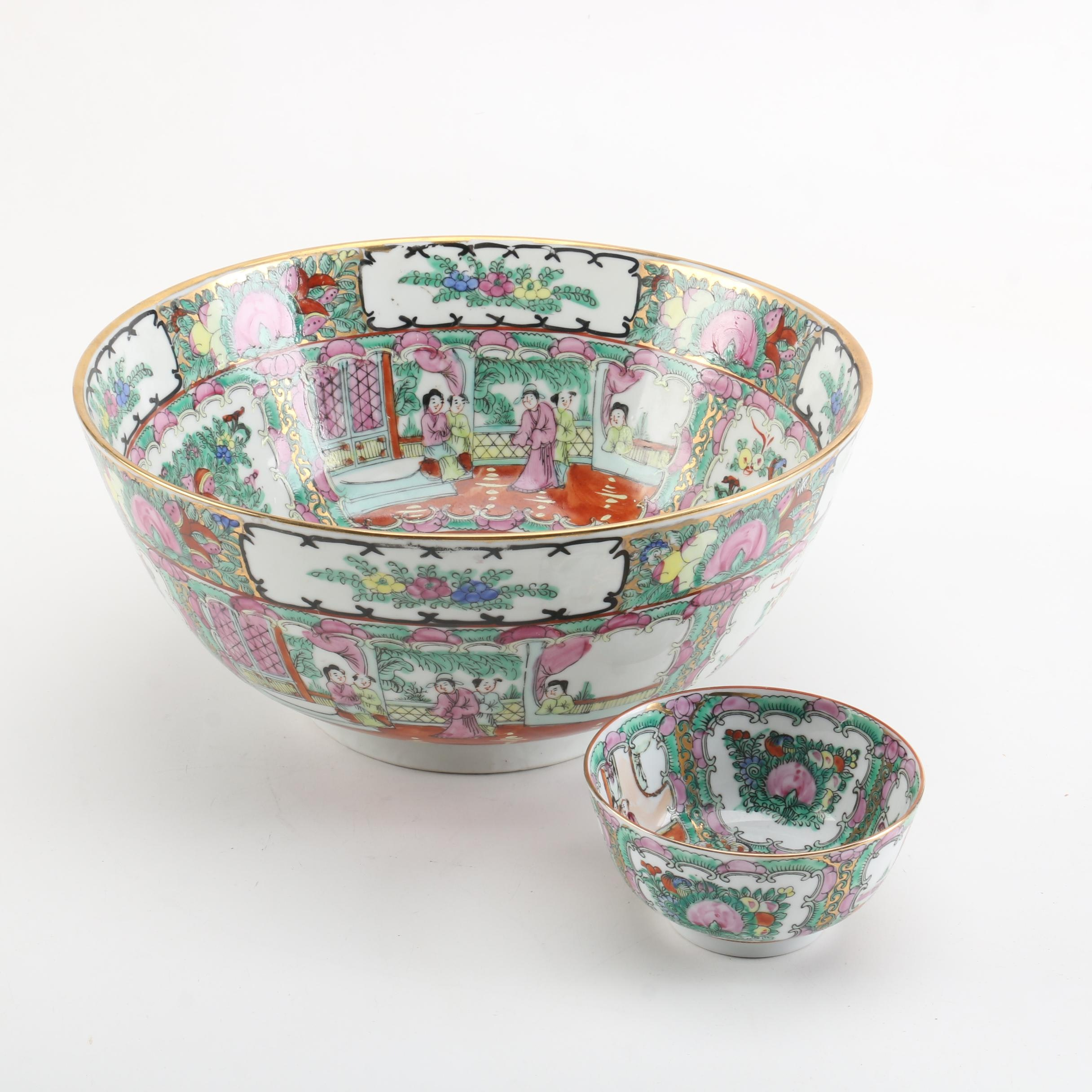 Chinese Rose Medallion Bowls