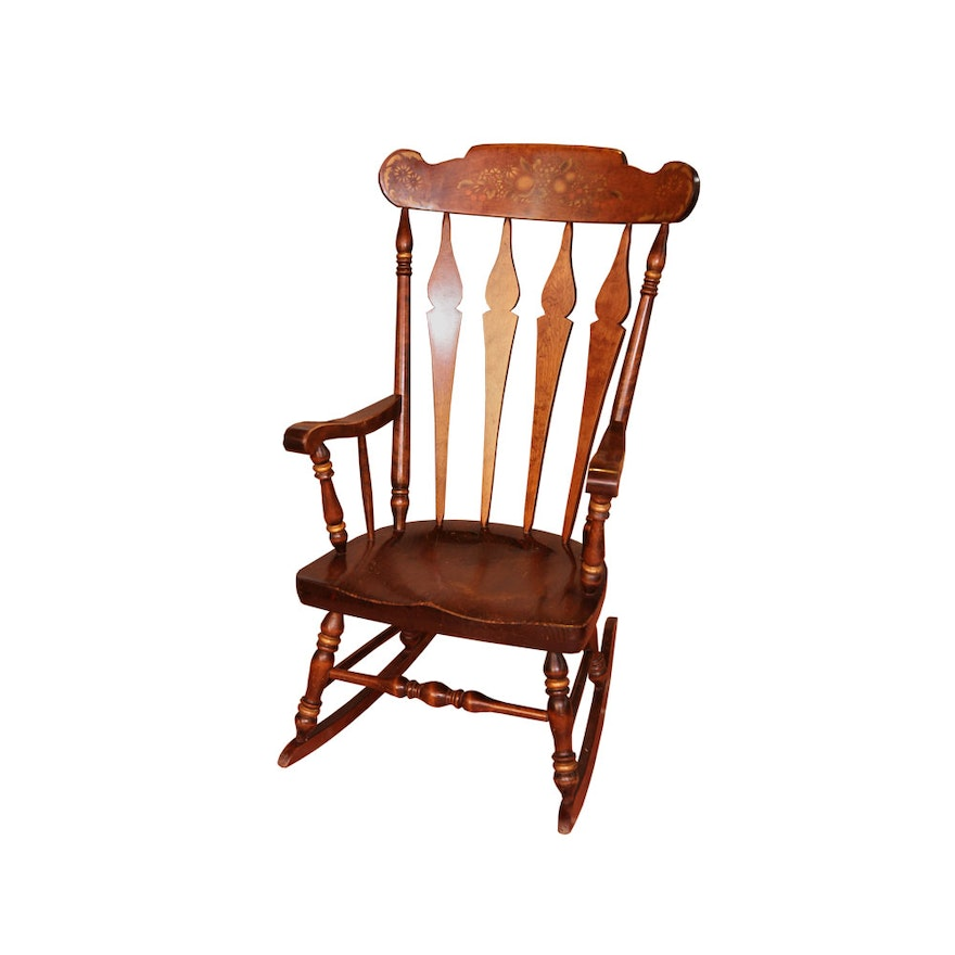 Vintage Rocking Chair By Nichols Stone Co