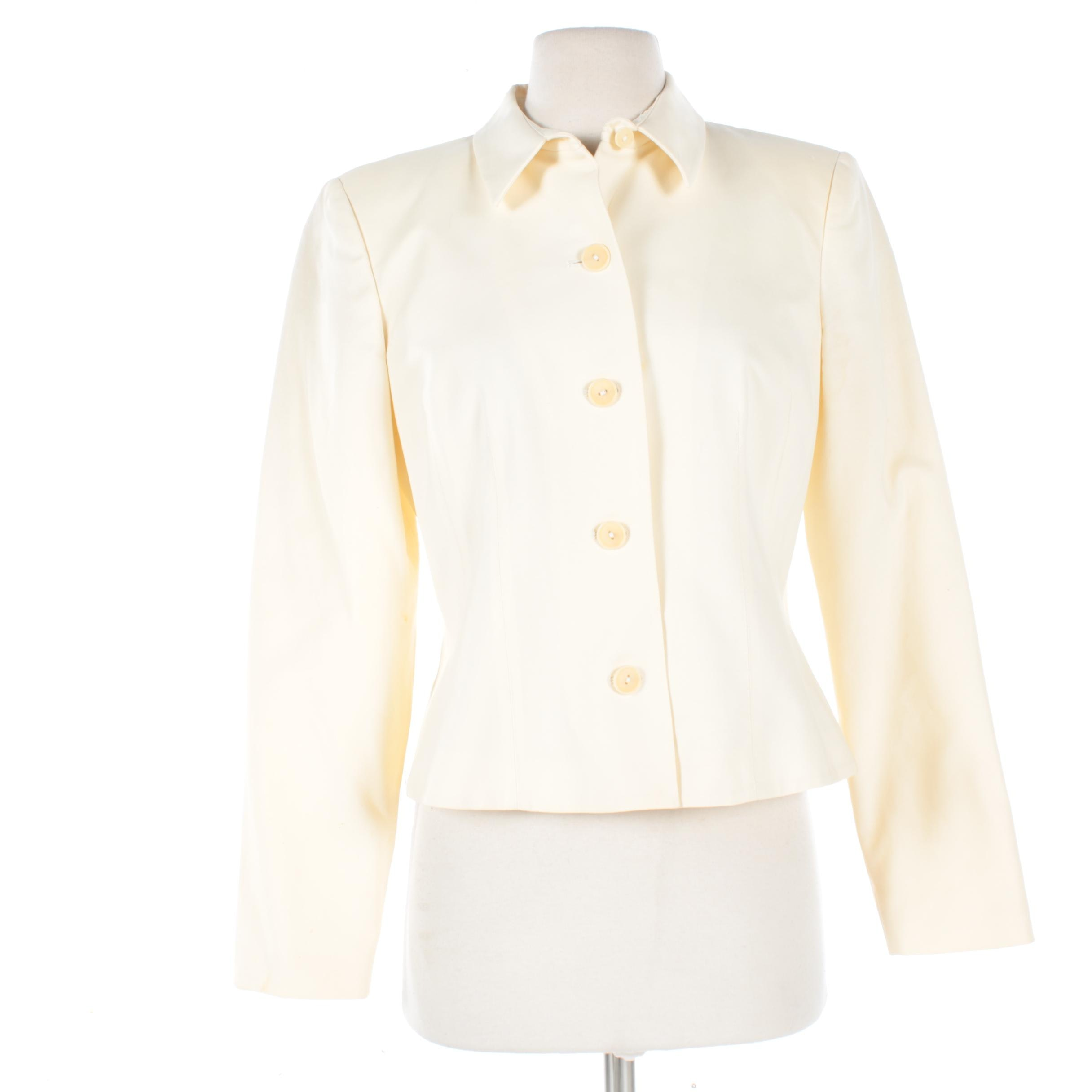 Women's OSCAR Oscar de la Renta Cotton Suit Jacket