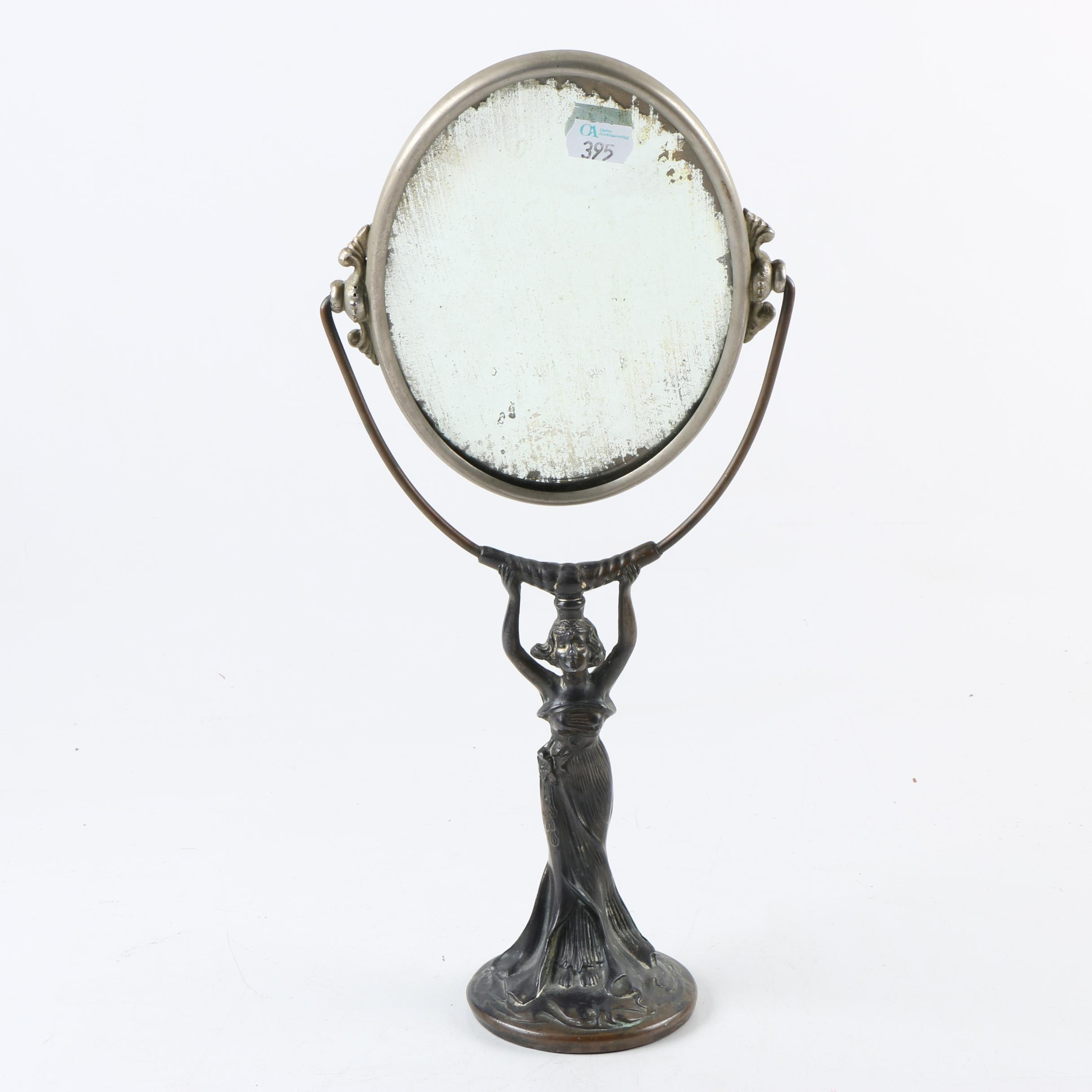 Vintage Figural Art Nouveau Vanity Mirror