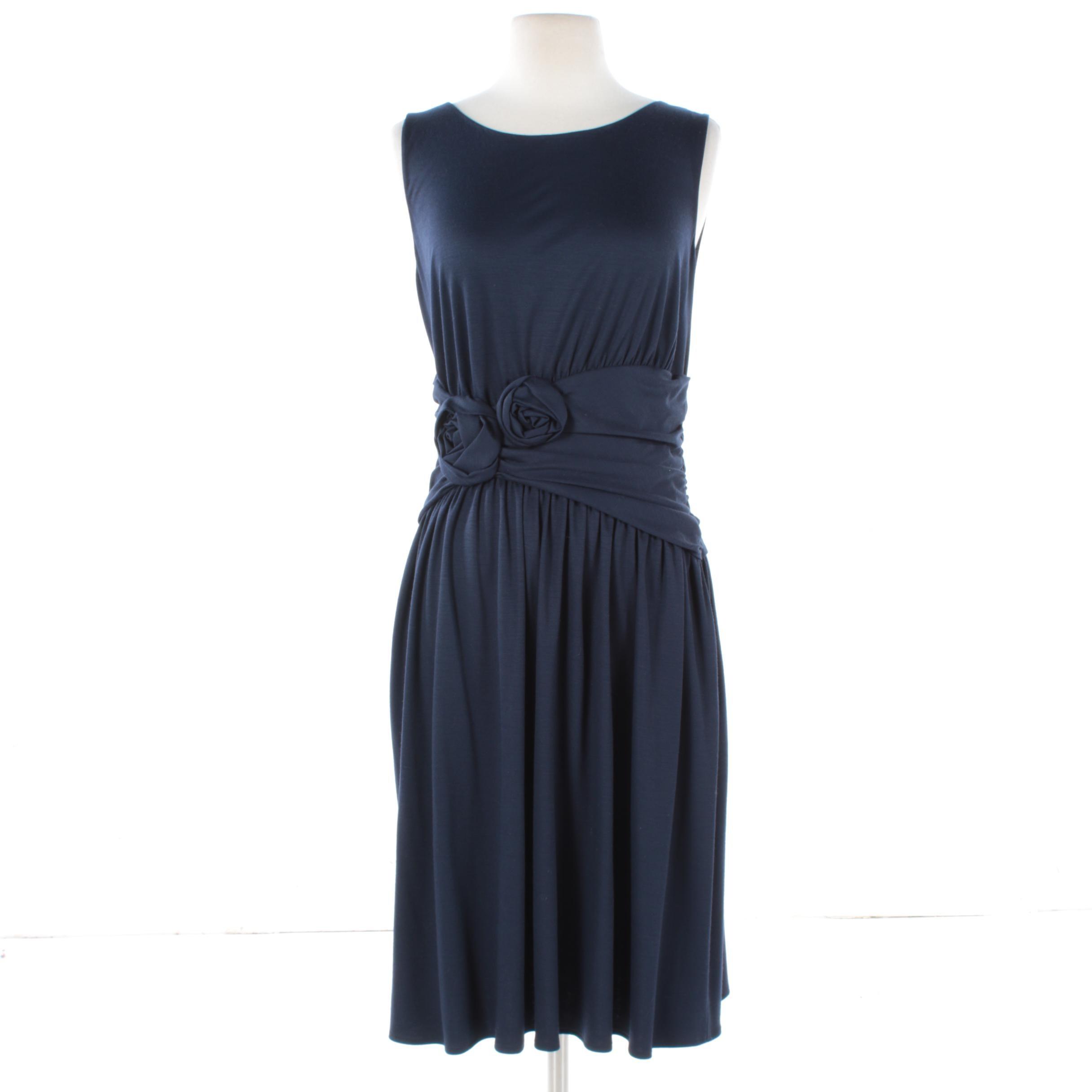 Moschino Cheap and Chic Navy Blue Sleeveless Dress