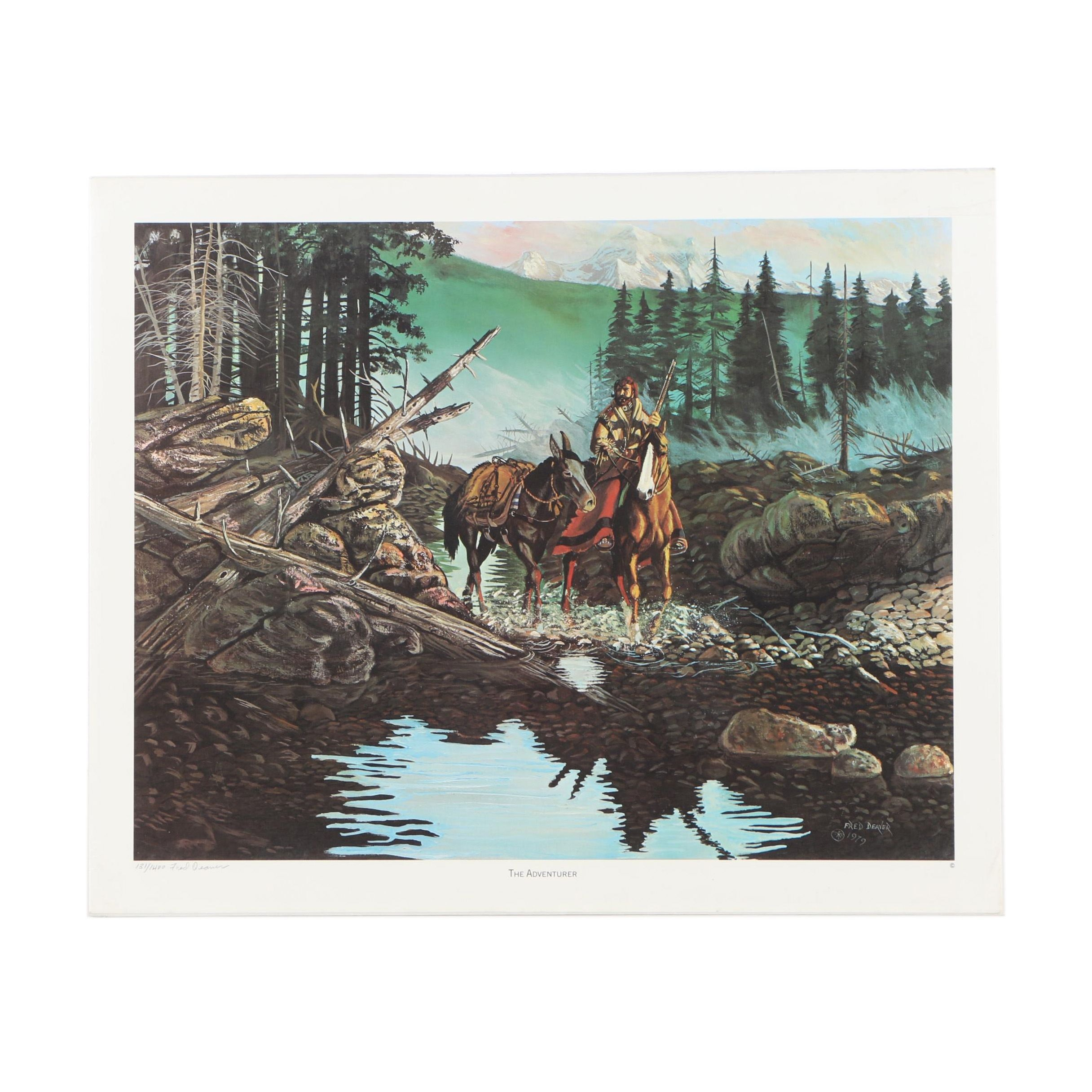"""Fred Deaver Limited Edition Offset Lithograph """"The Adventurer"""""""