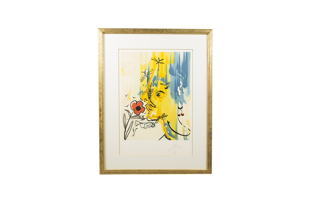 "Salvador Dali Color Lithograph ""Vanishing Face"""
