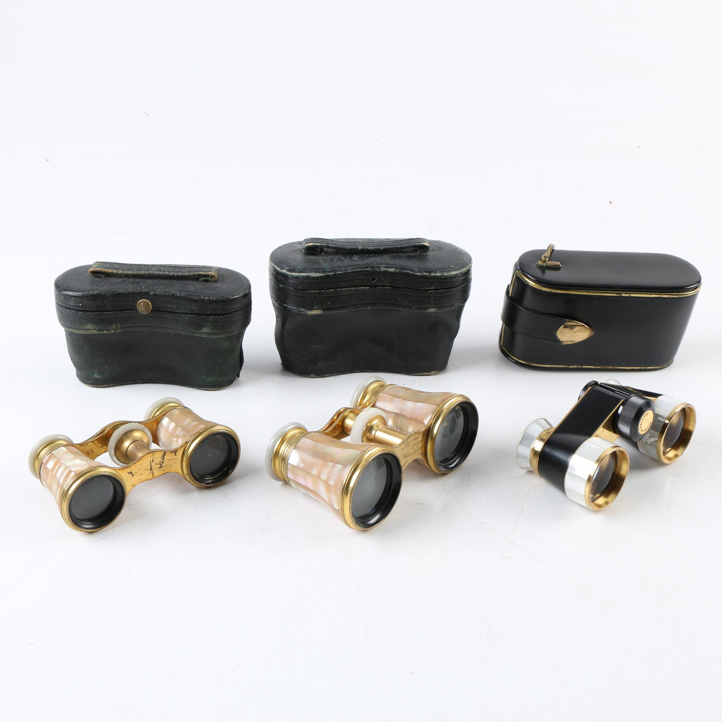 Antique and Vintage LeMaire Paris and Carl Zeiss Opera Glasses