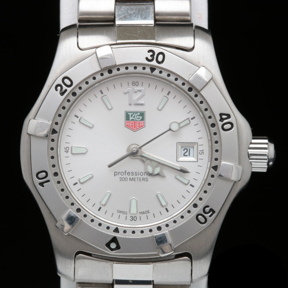 Tag Heuer Proffesional Stainless Steel Wristwatch