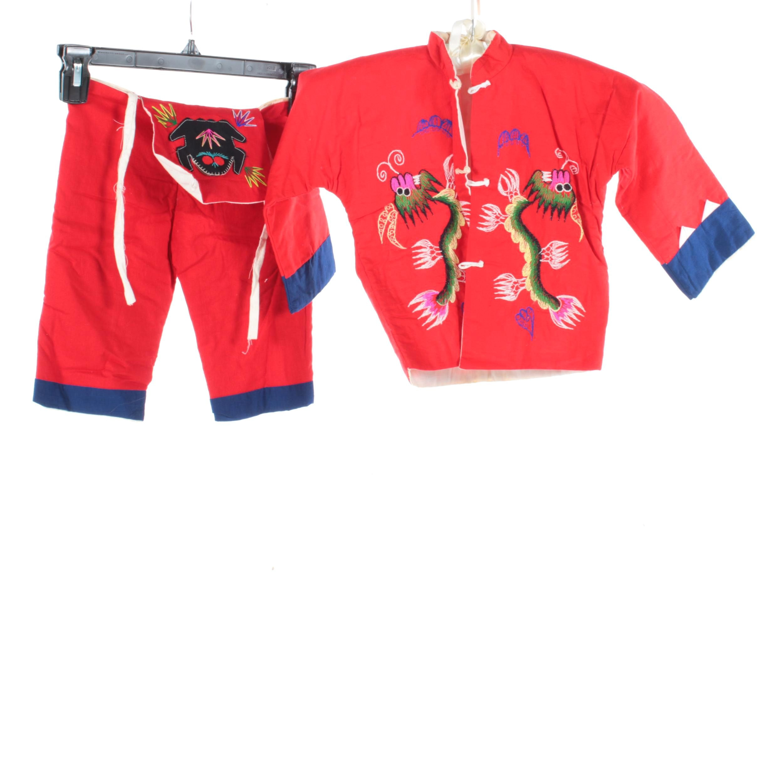 Children's Vintage Chinese Overalls and Jacket
