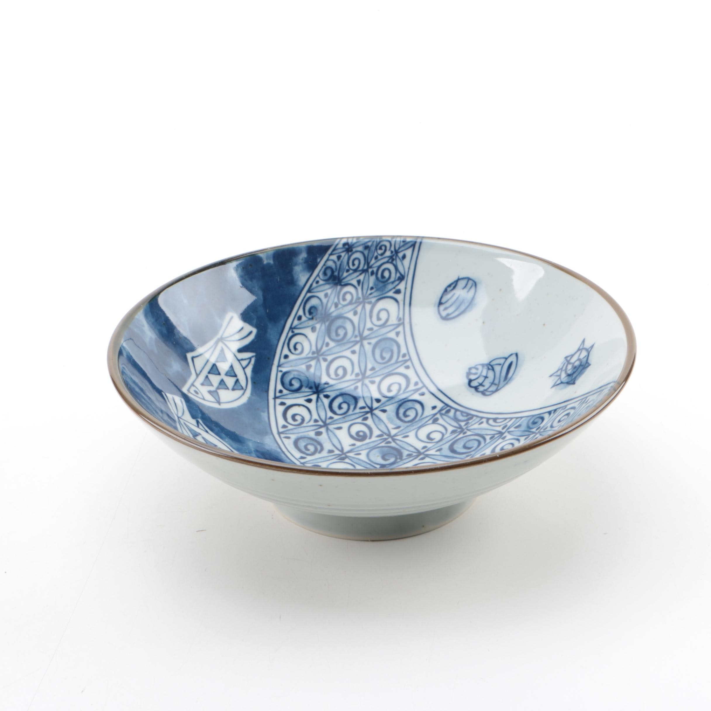 Japanese Blue and White Porcelain Bowl