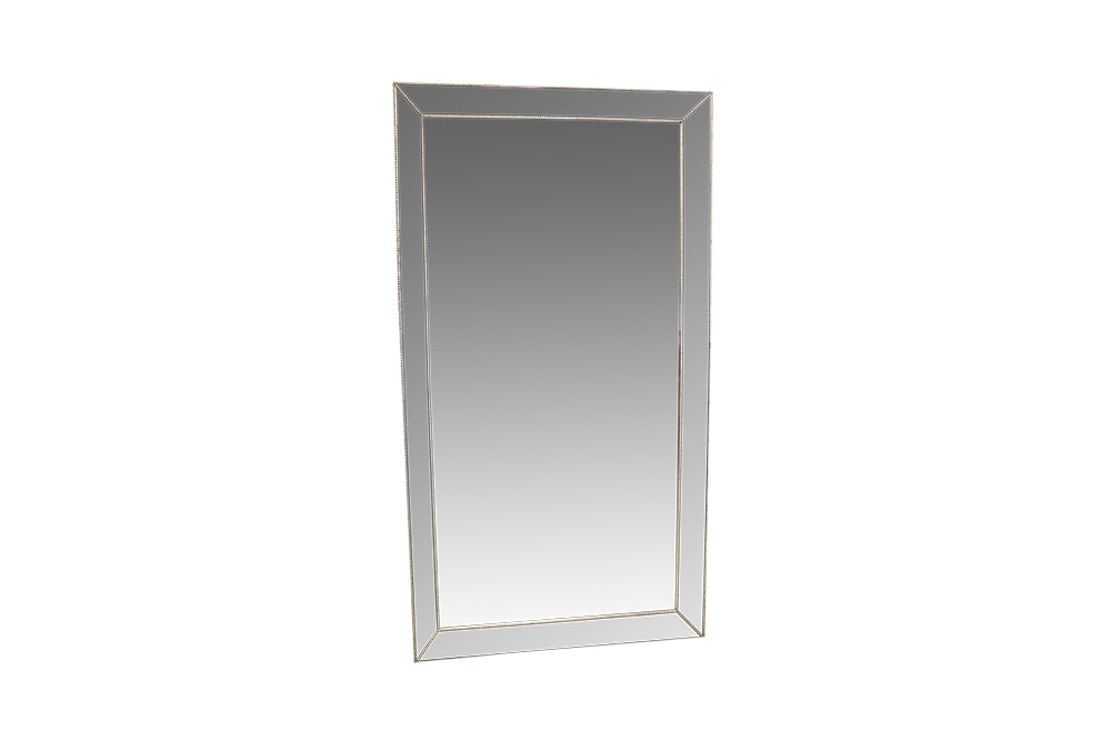 Contemporary Wall Mirror with Mirrored Frame