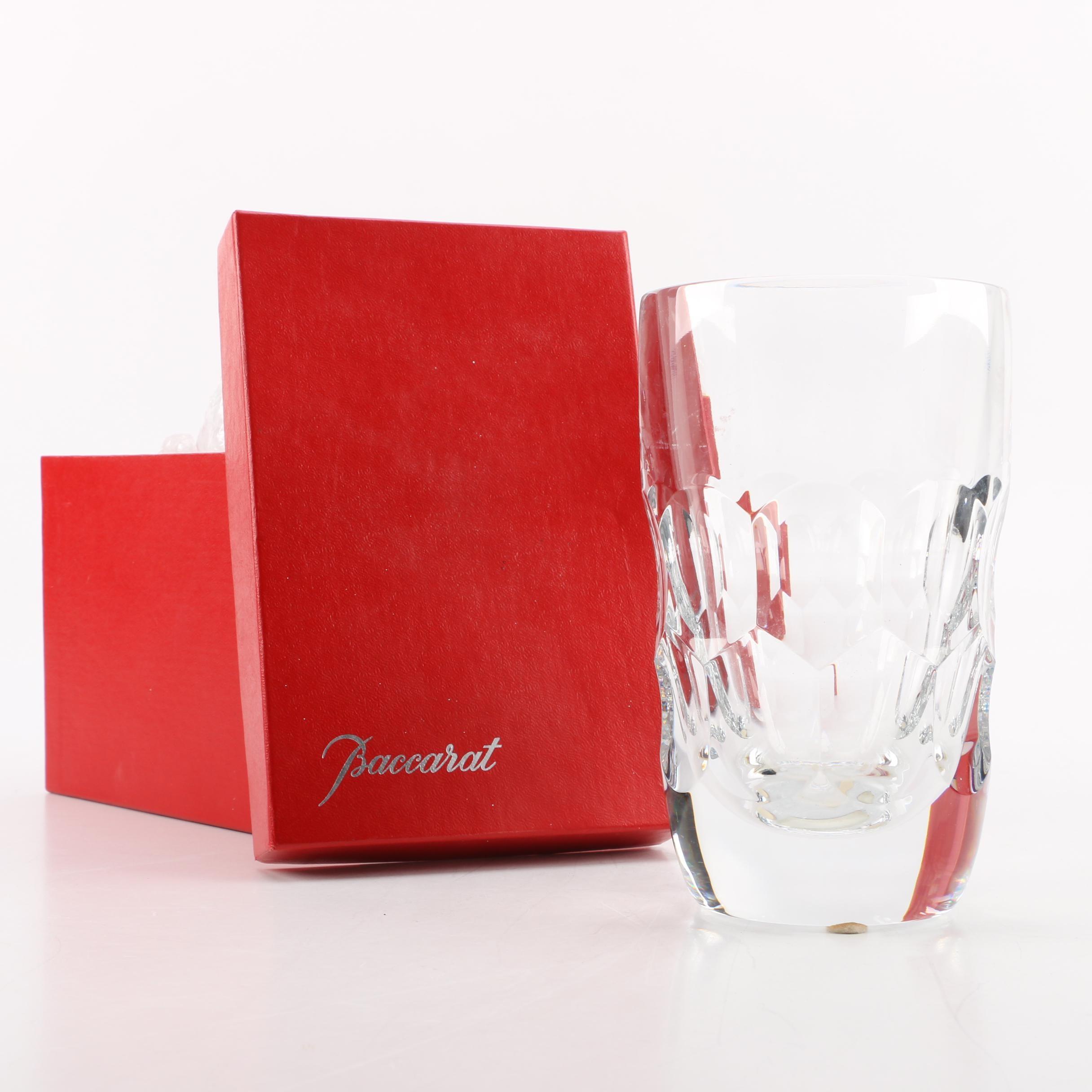 """Vintage Baccarat Crystal """"Belle de France"""" Vase"""