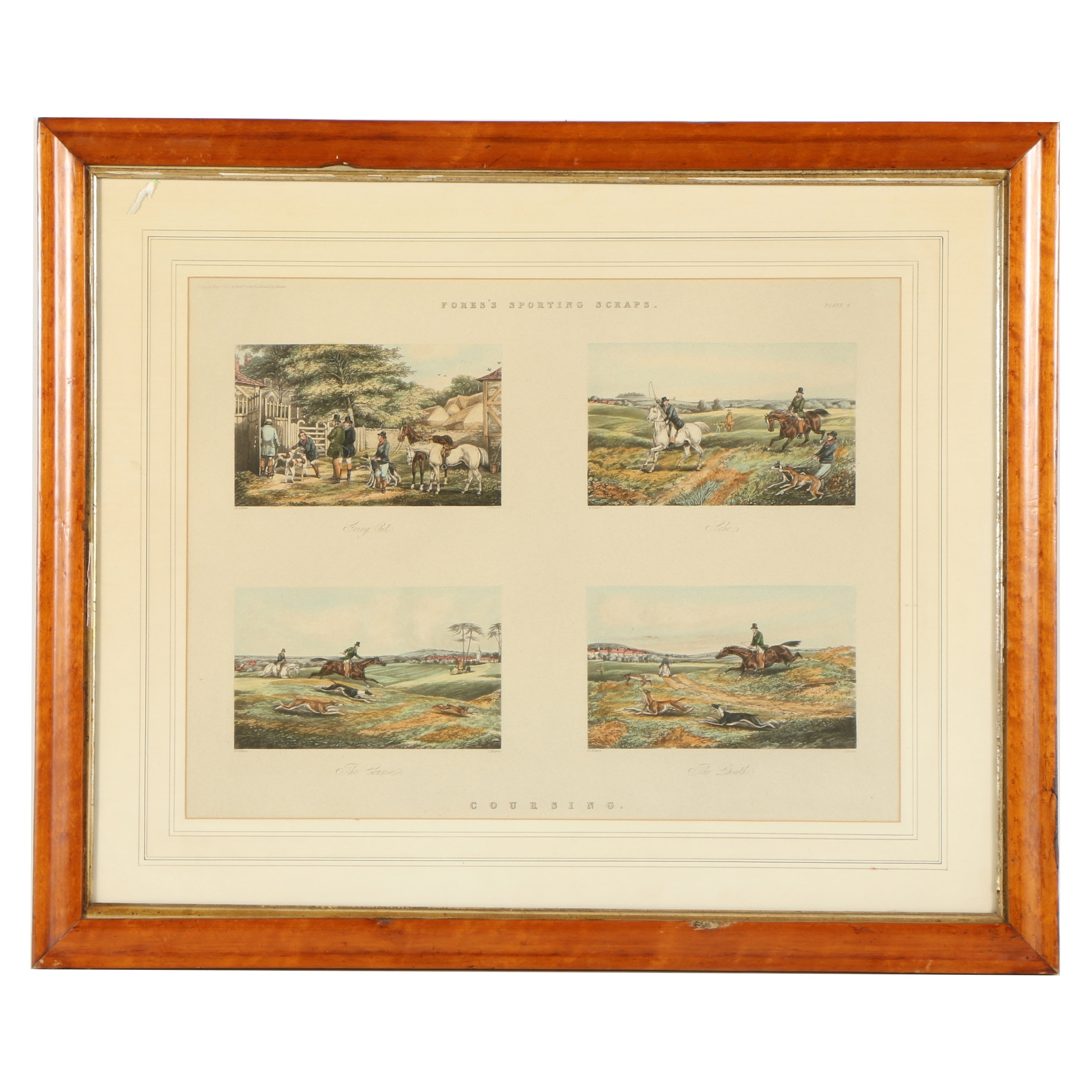 """Hand-Colored Metzograph After Henry Thomas Alken """"Coursing"""""""