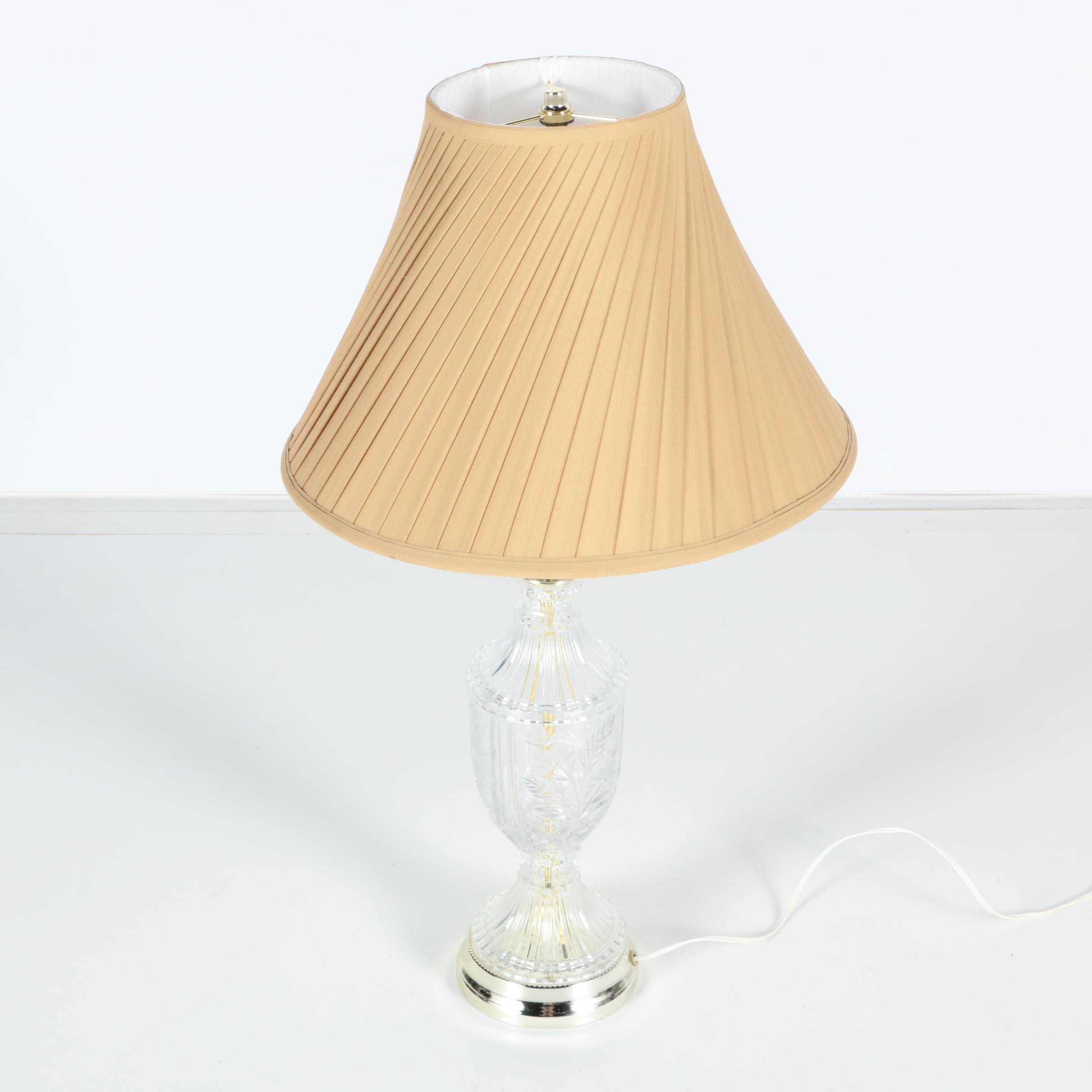 Traditional Cut Glass Table Lamp