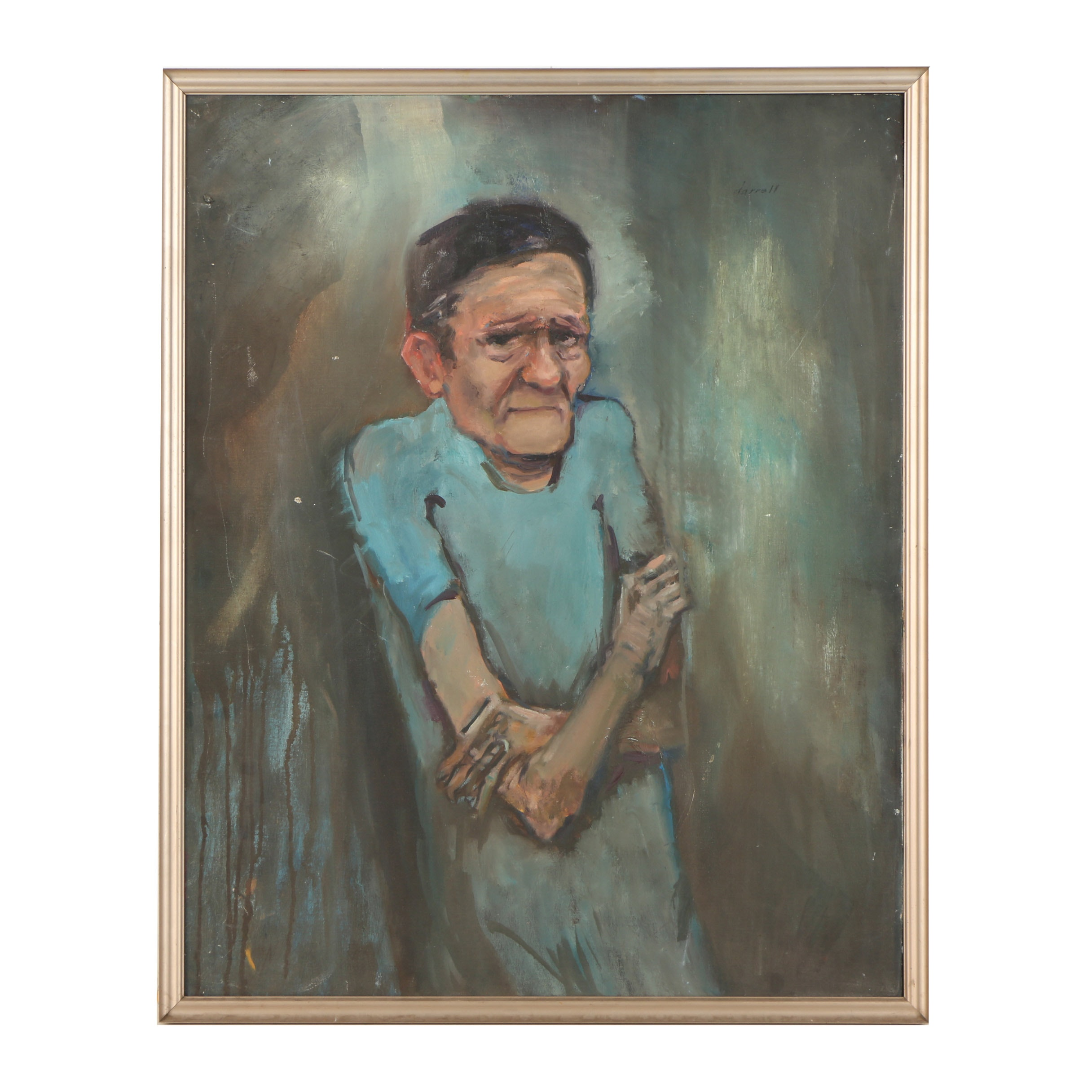 """Darrell Cattarin Oil Painting """"The Patient"""""""