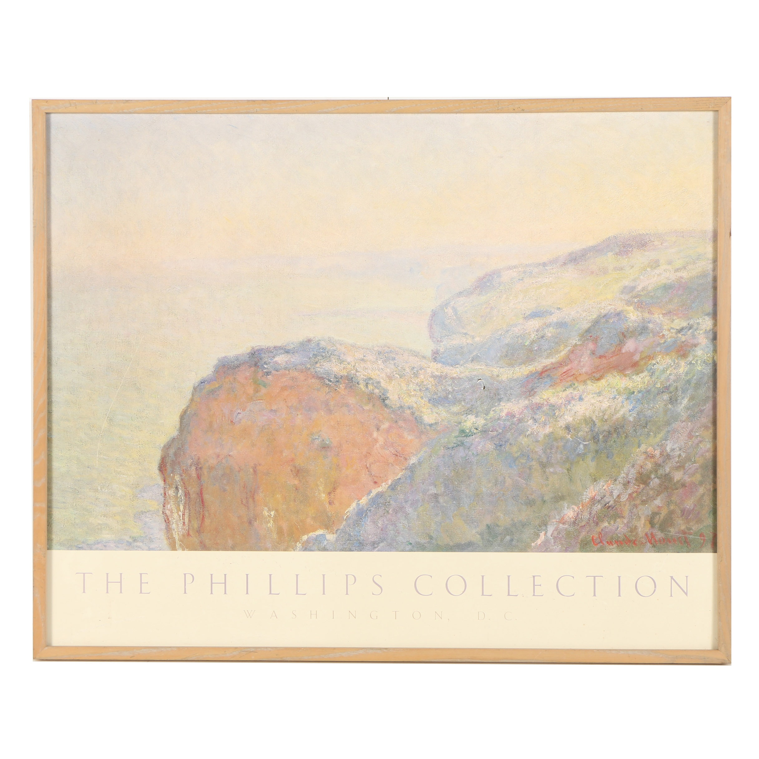 Offset Lithograph Poster for The Phillips Collection After Claude Monet