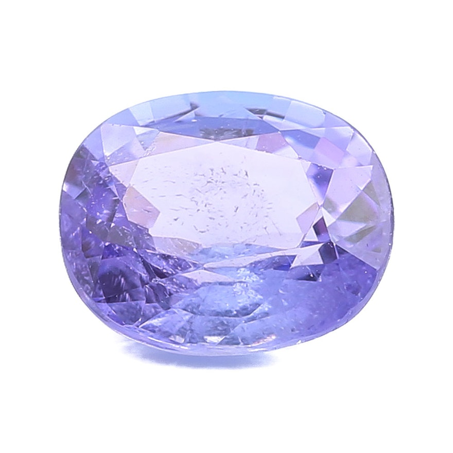 certified loose cushion gemstone violetish egl itm is tanzanite blue cut image loading