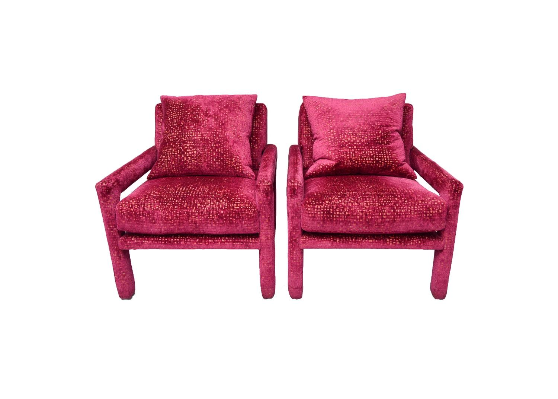 Vintage Mid Century Modern Upholstered Armchairs