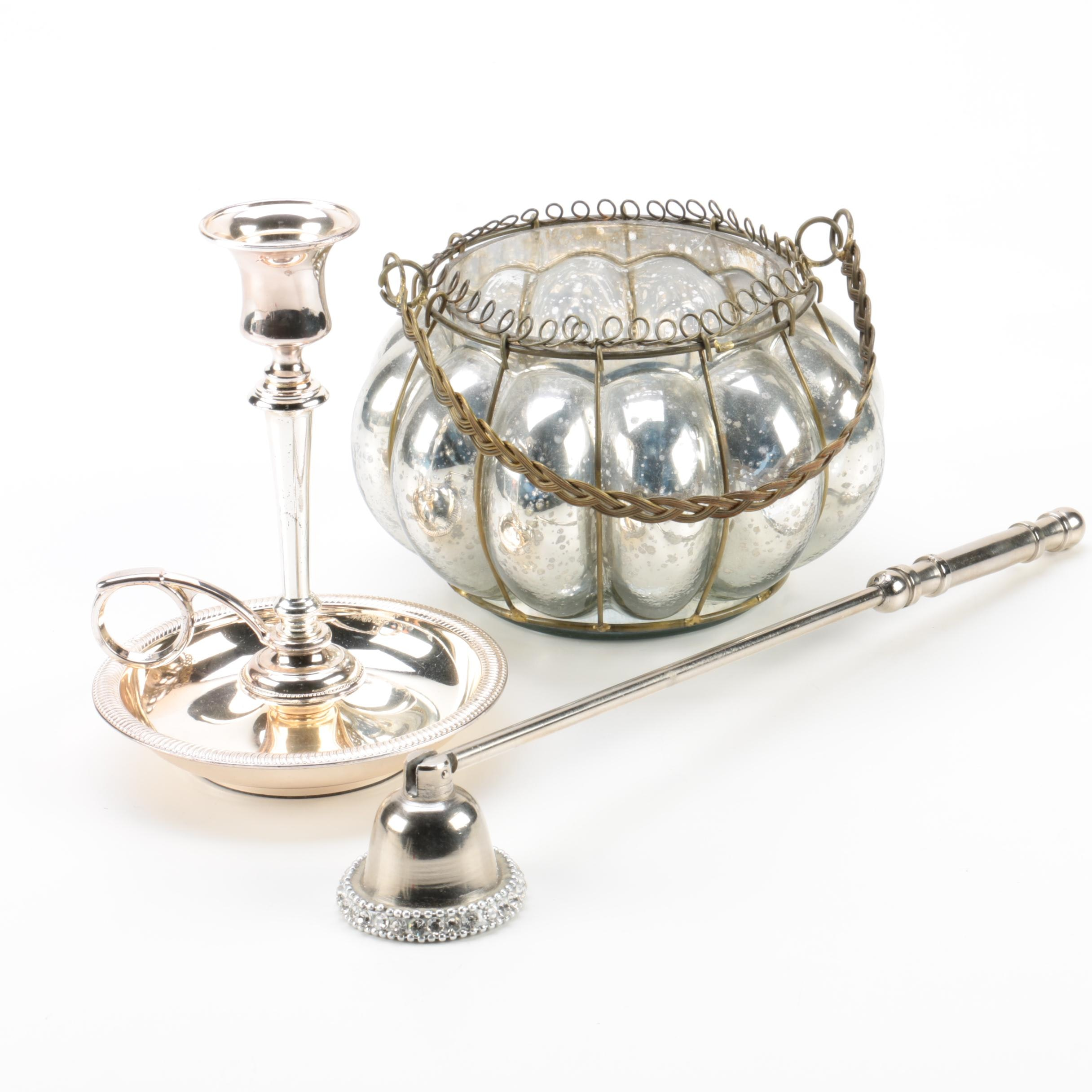 Candle Holders and Snuffer