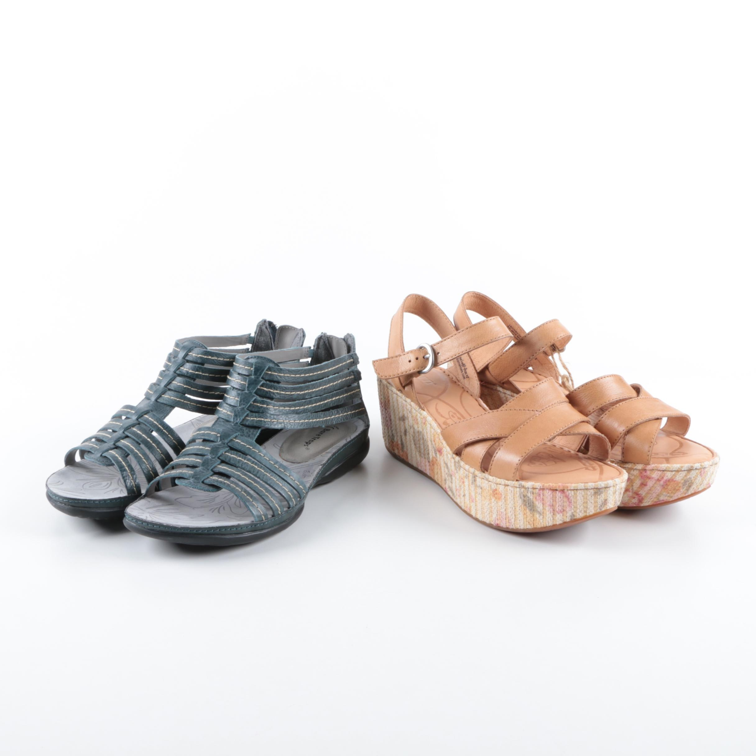 Women's Wedge Sandals Including Born