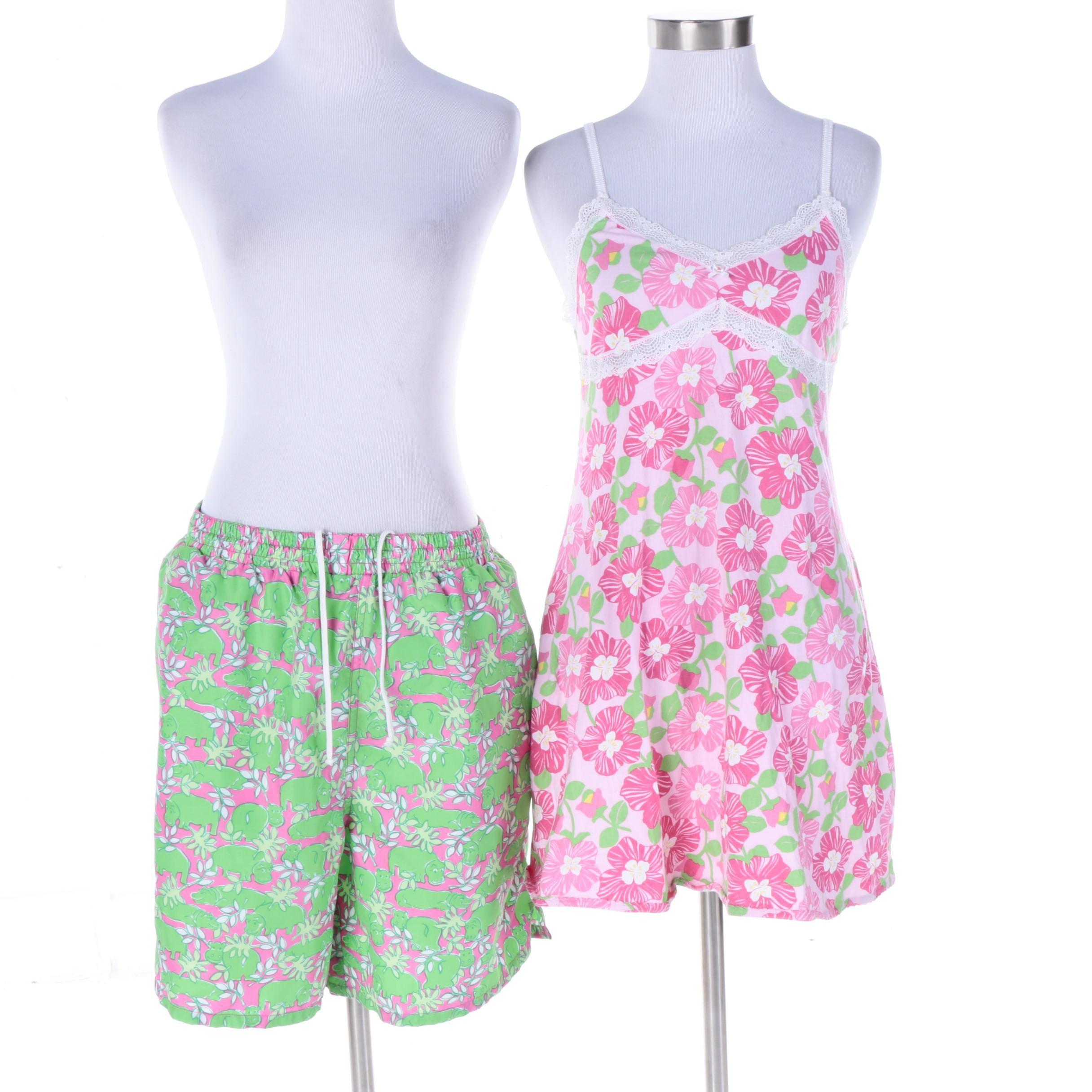 Lilly Pulitzer Shirt and Swimming Shorts