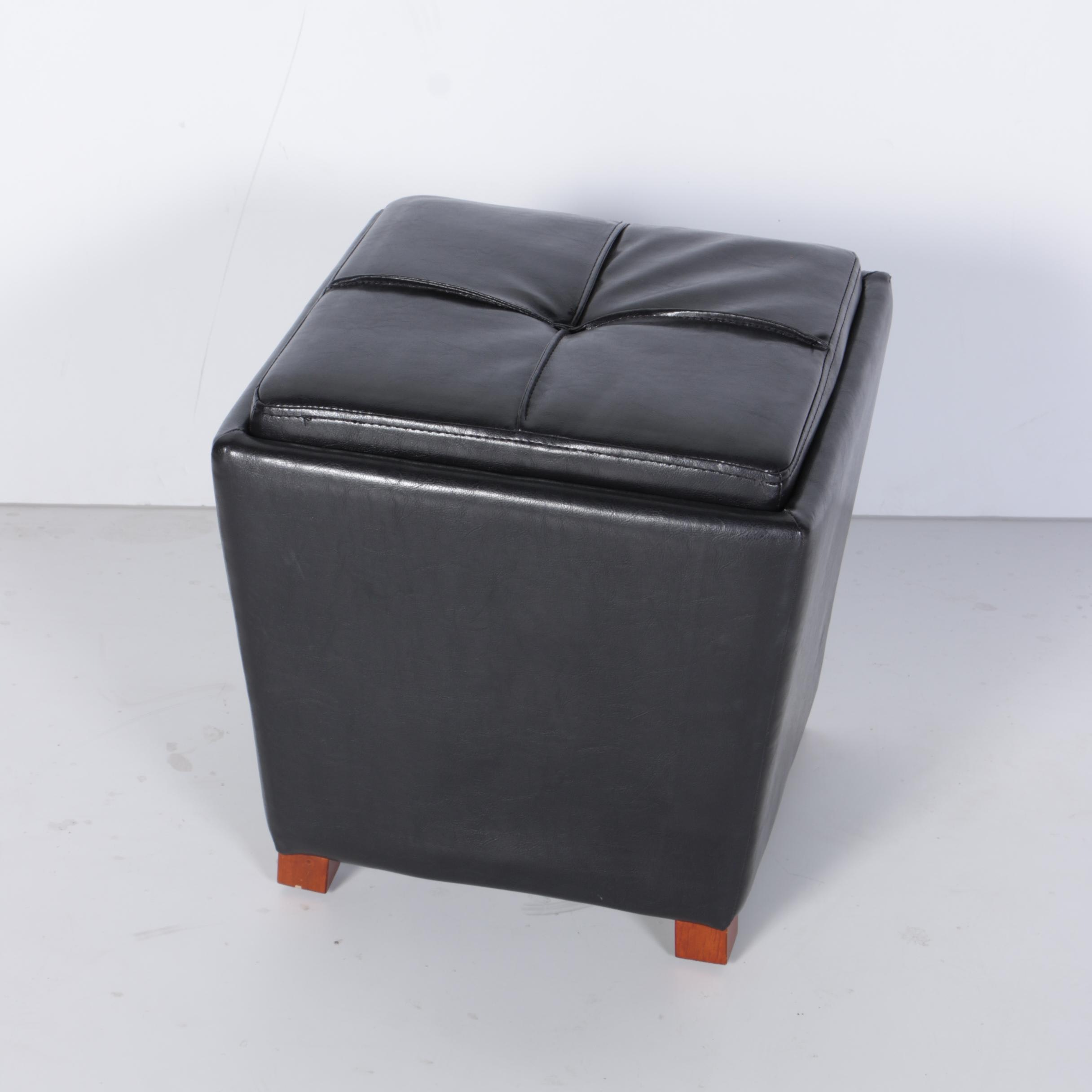 Contemporary Ottoman with Tray Seat